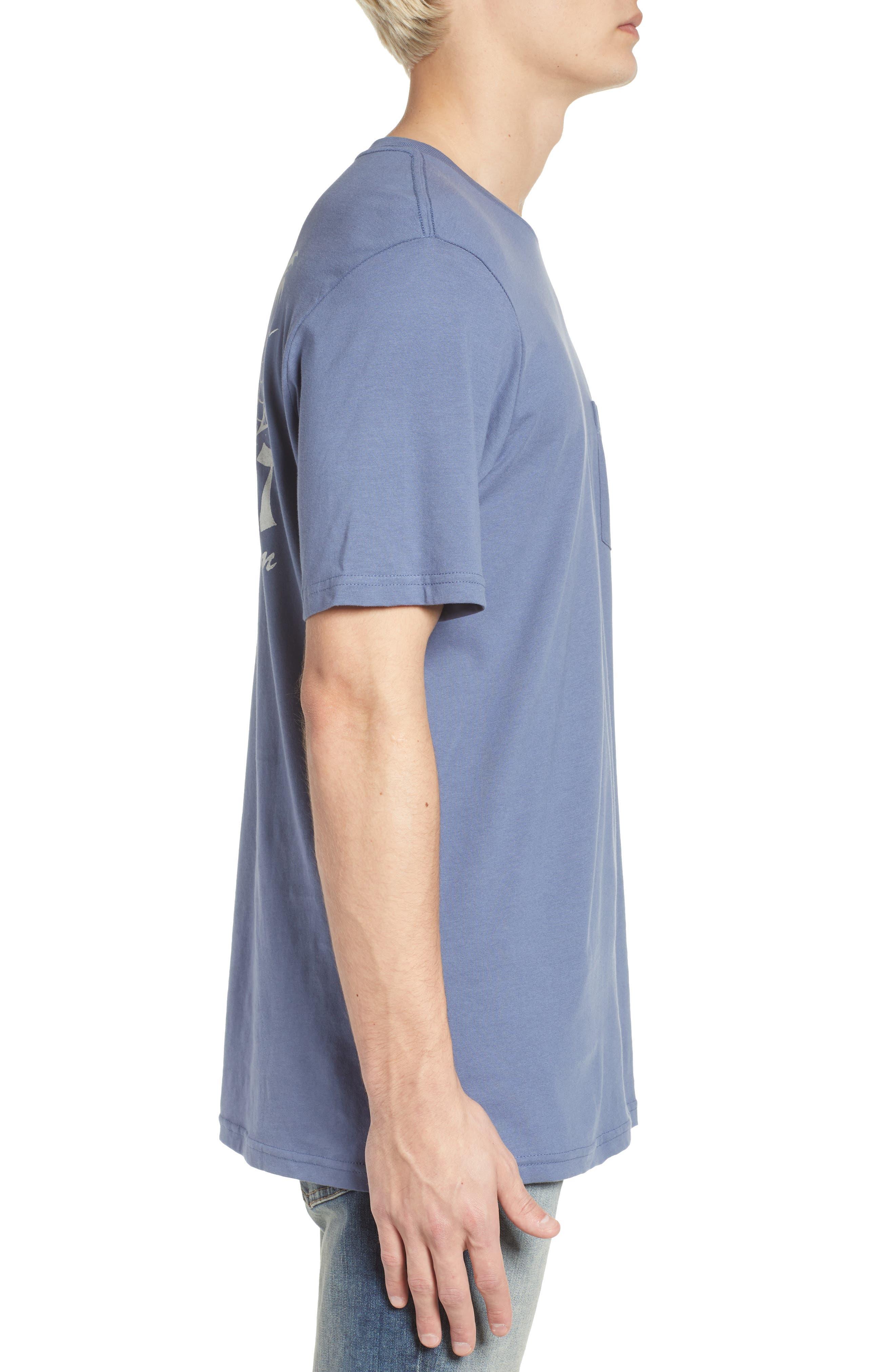 Last Resort Pocket T-Shirt,                             Alternate thumbnail 3, color,                             Deep Blue
