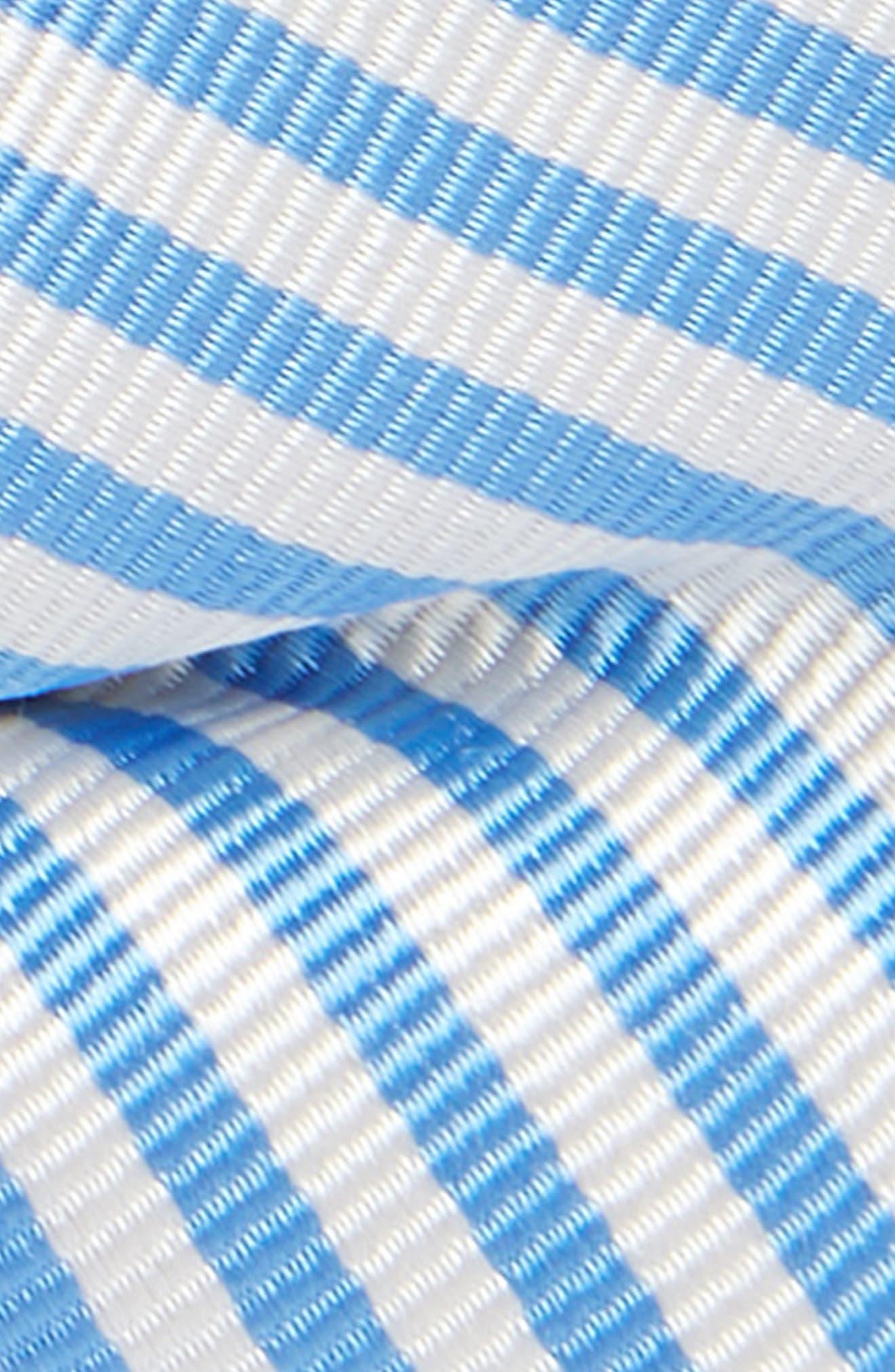 Awning Stripe Silk Bow Tie,                             Alternate thumbnail 2, color,                             Light Blue
