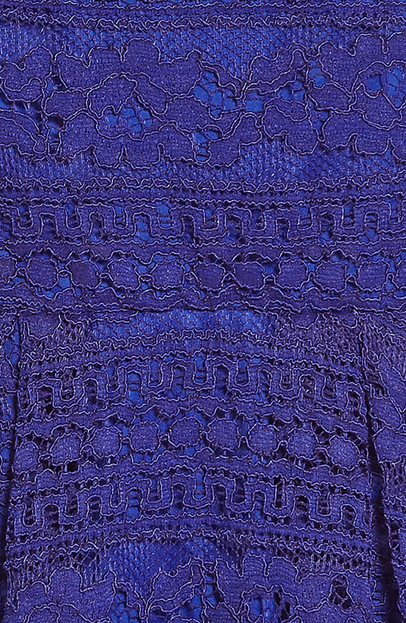 Lace Skater Dress,                             Alternate thumbnail 3, color,                             Royal