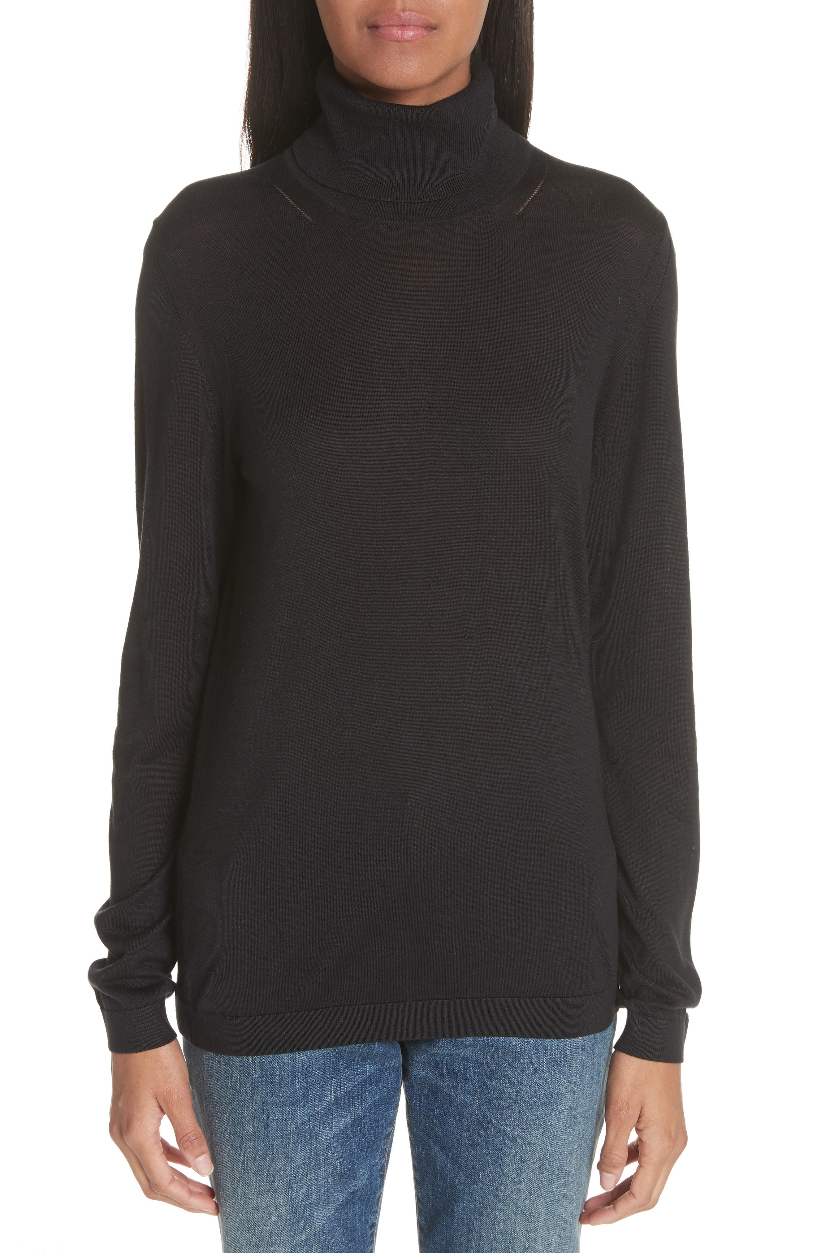 Burberry Kisco Silk & Cashmere Turtleneck Sweater