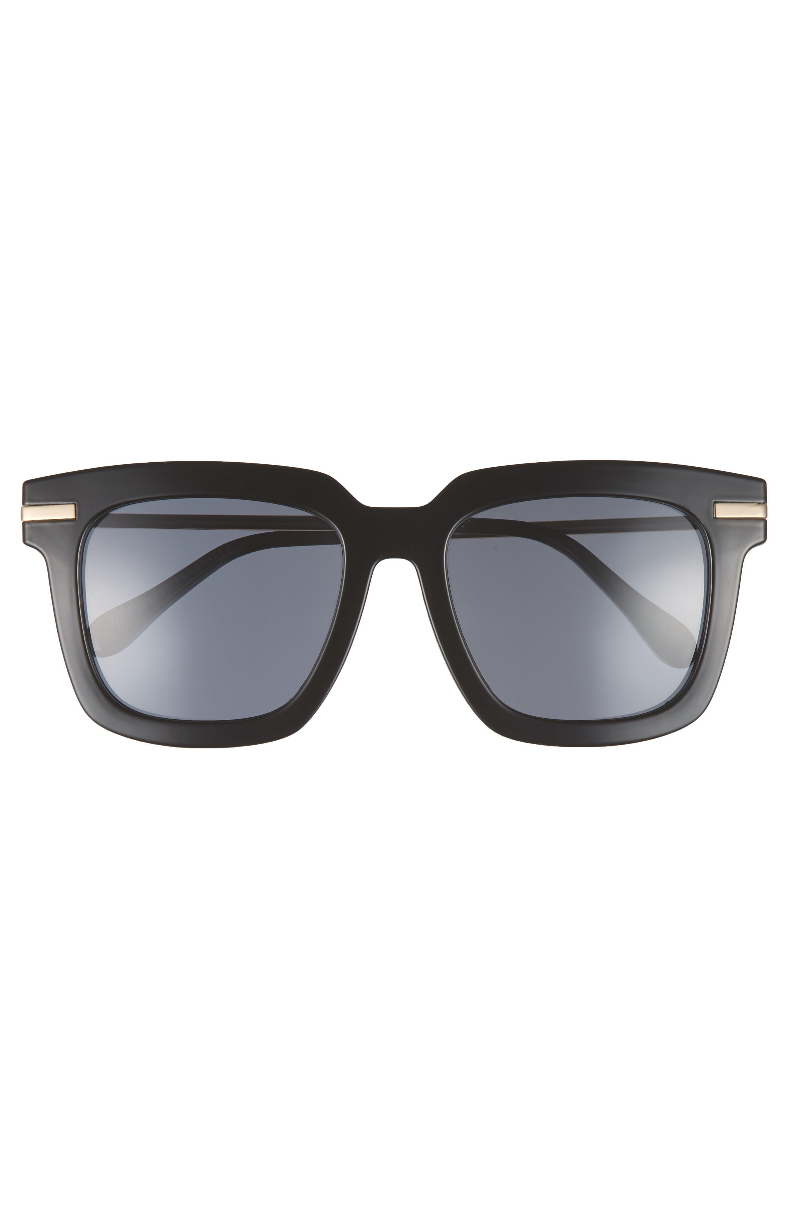 Laguna 51mm Polarized Sunglasses,                             Alternate thumbnail 3, color,                             Black