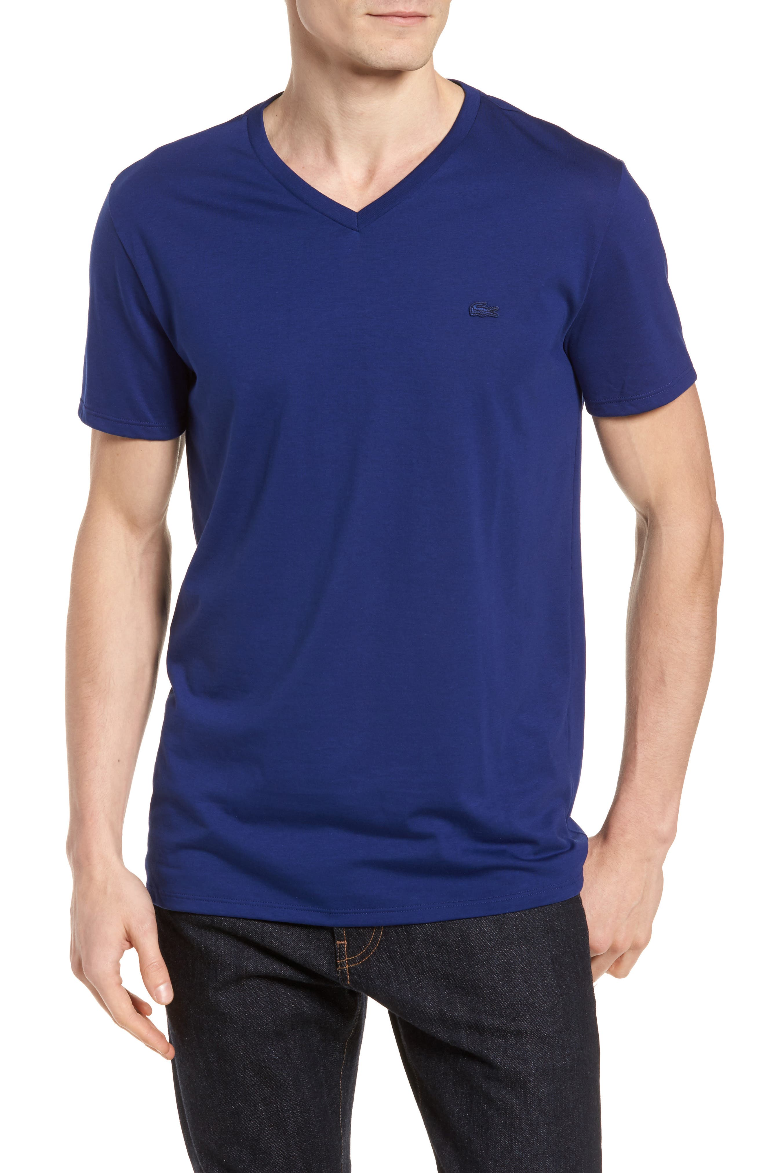 Main Image - Lacoste Pima Cotton T-Shirt (Nordstrom Exclusive)