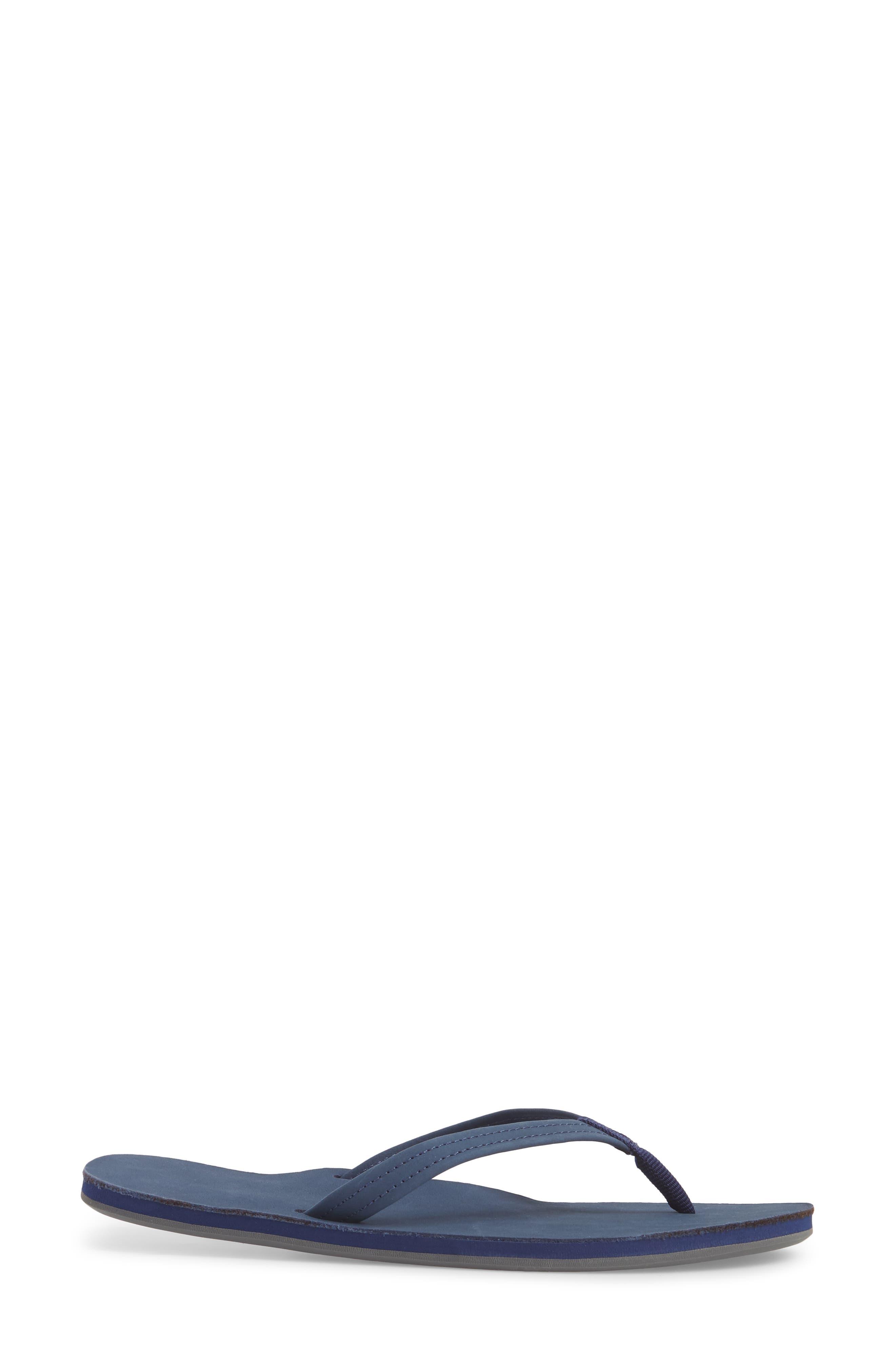 Fields Flip Flop,                             Alternate thumbnail 3, color,                             Navy Peach Gray