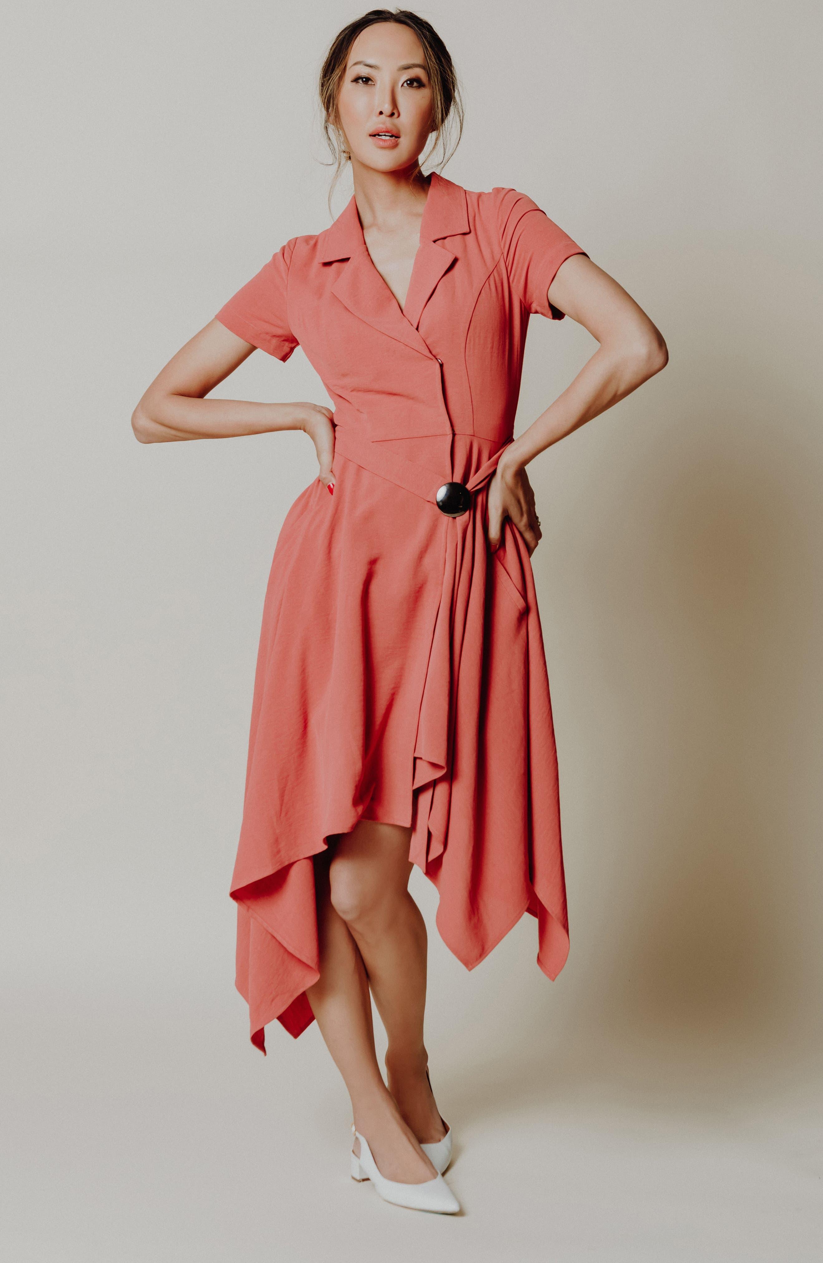 Chriselle x J.O.A. Asymmetrical Trench Dress,                             Alternate thumbnail 10, color,                             Patina