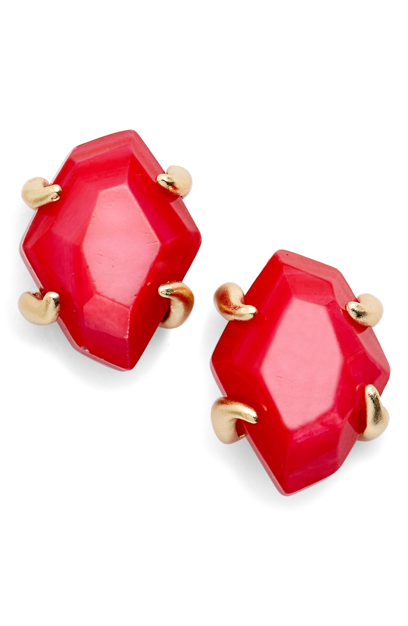 Inaiyah Stud Earrings,                         Main,                         color, Red Mop/ Gold