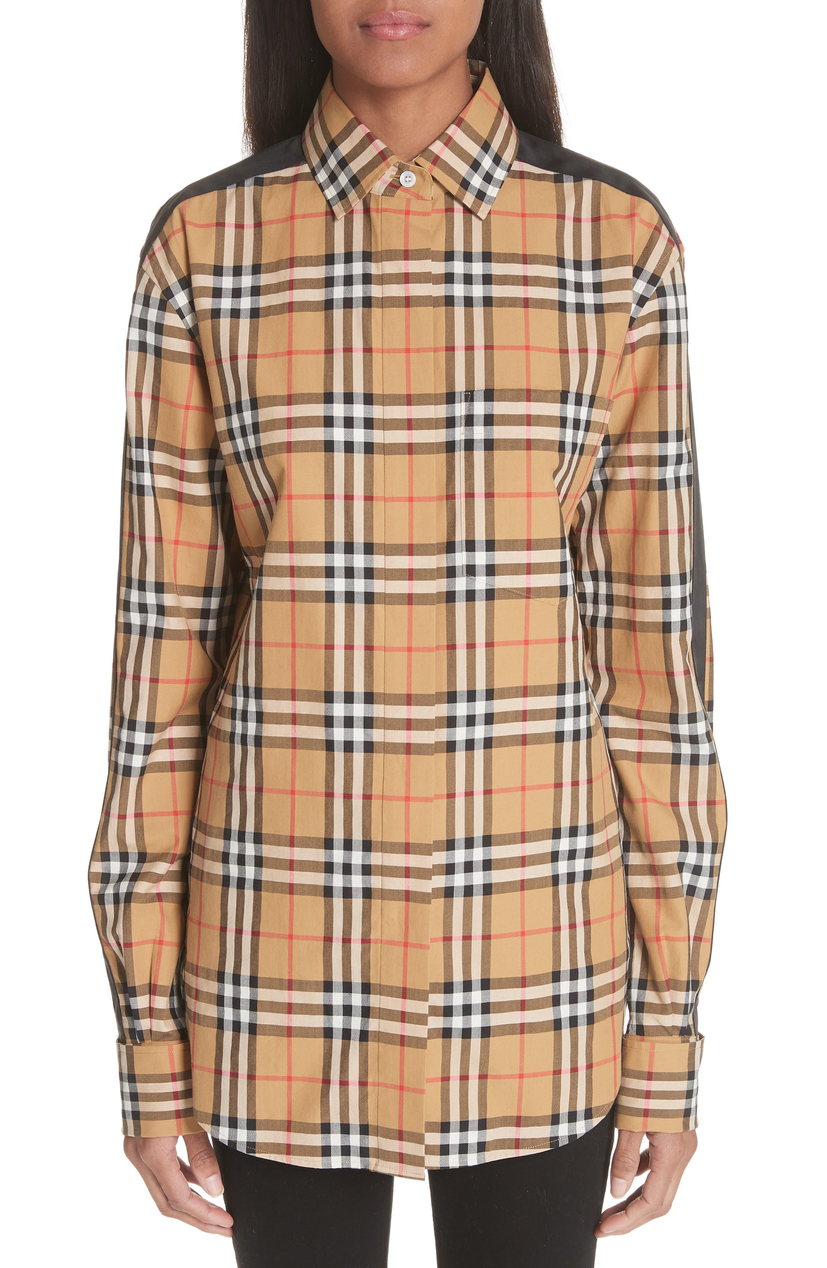 Burberry Saoirse Vintage Check Cotton Top