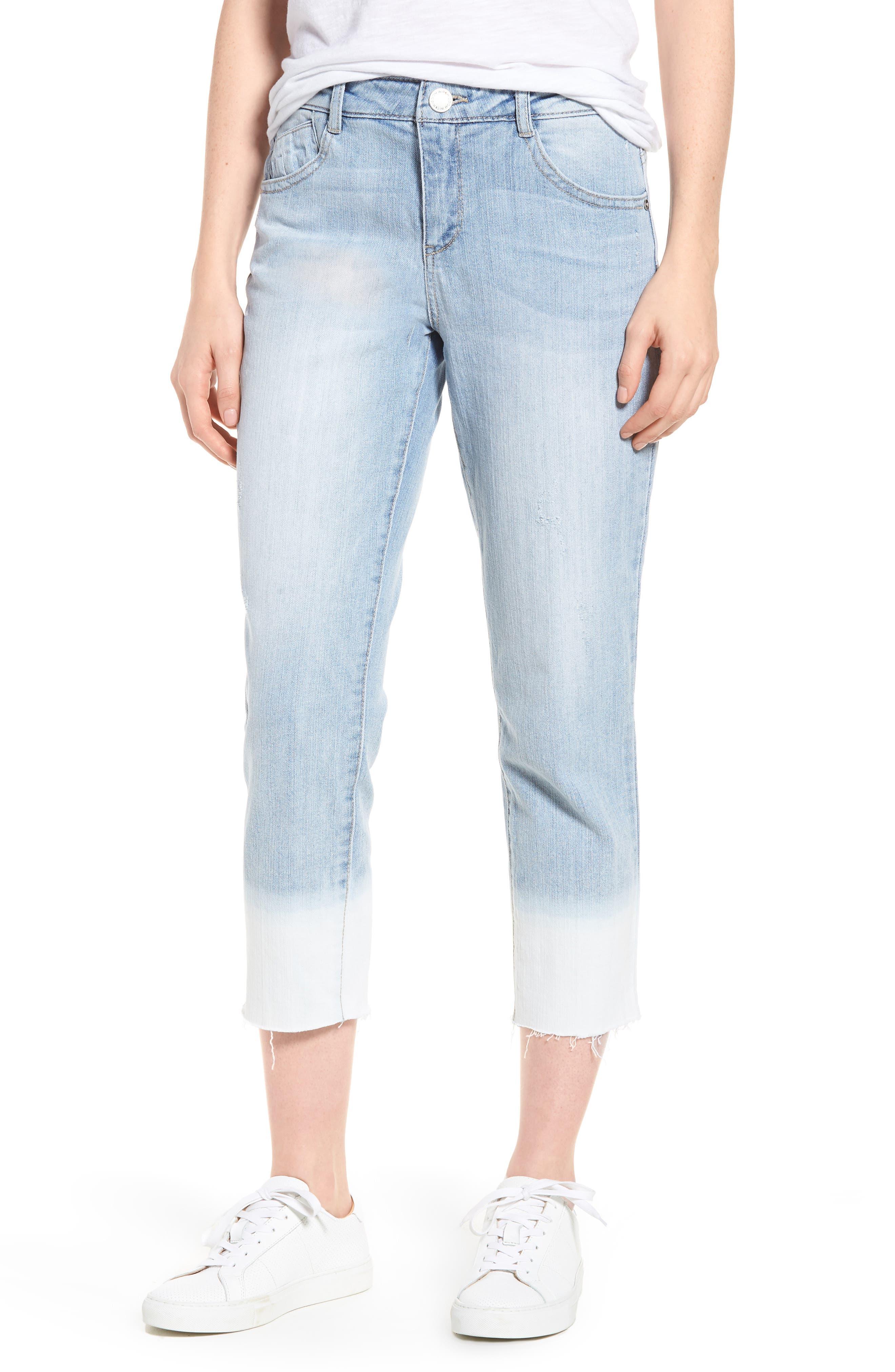 Wit & Wisdom Flex-Ellent Bleached Raw Hem Jeans (Nordstrom Exclusive)