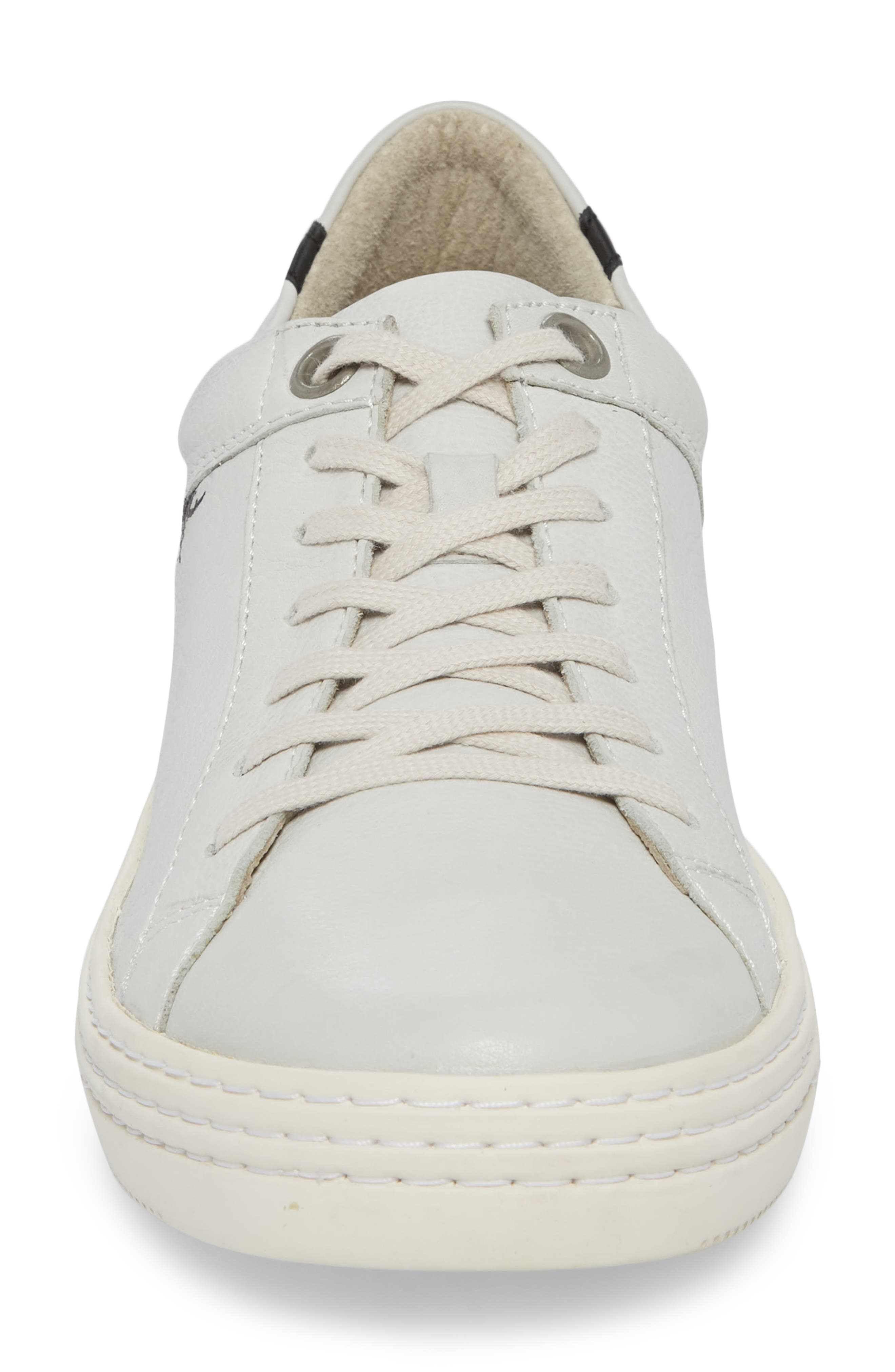 Sene Low Top Sneaker,                             Alternate thumbnail 4, color,                             Off White Leather