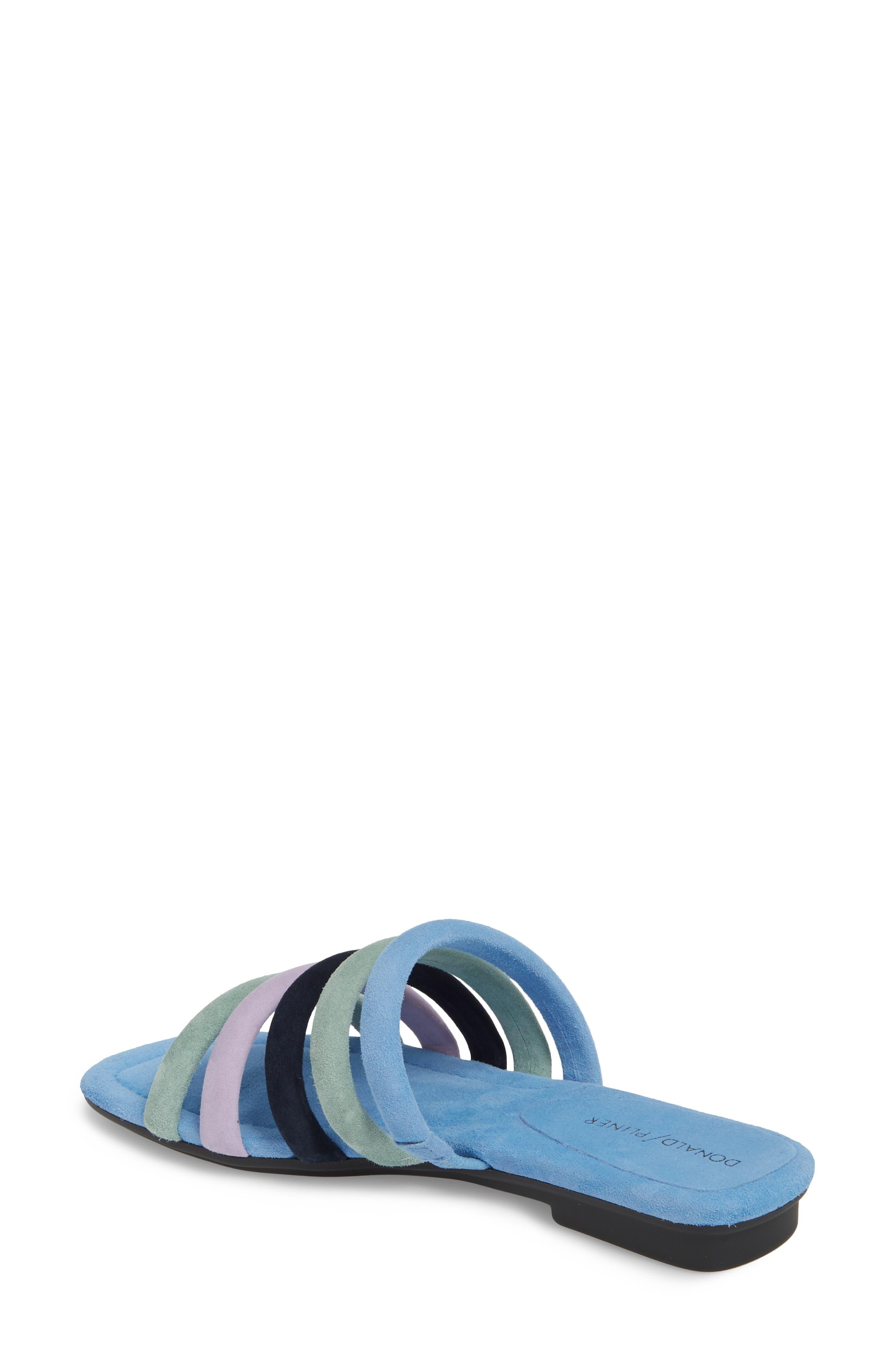 Kip Slide Sandal,                             Alternate thumbnail 2, color,                             Sage/ Blue Leather