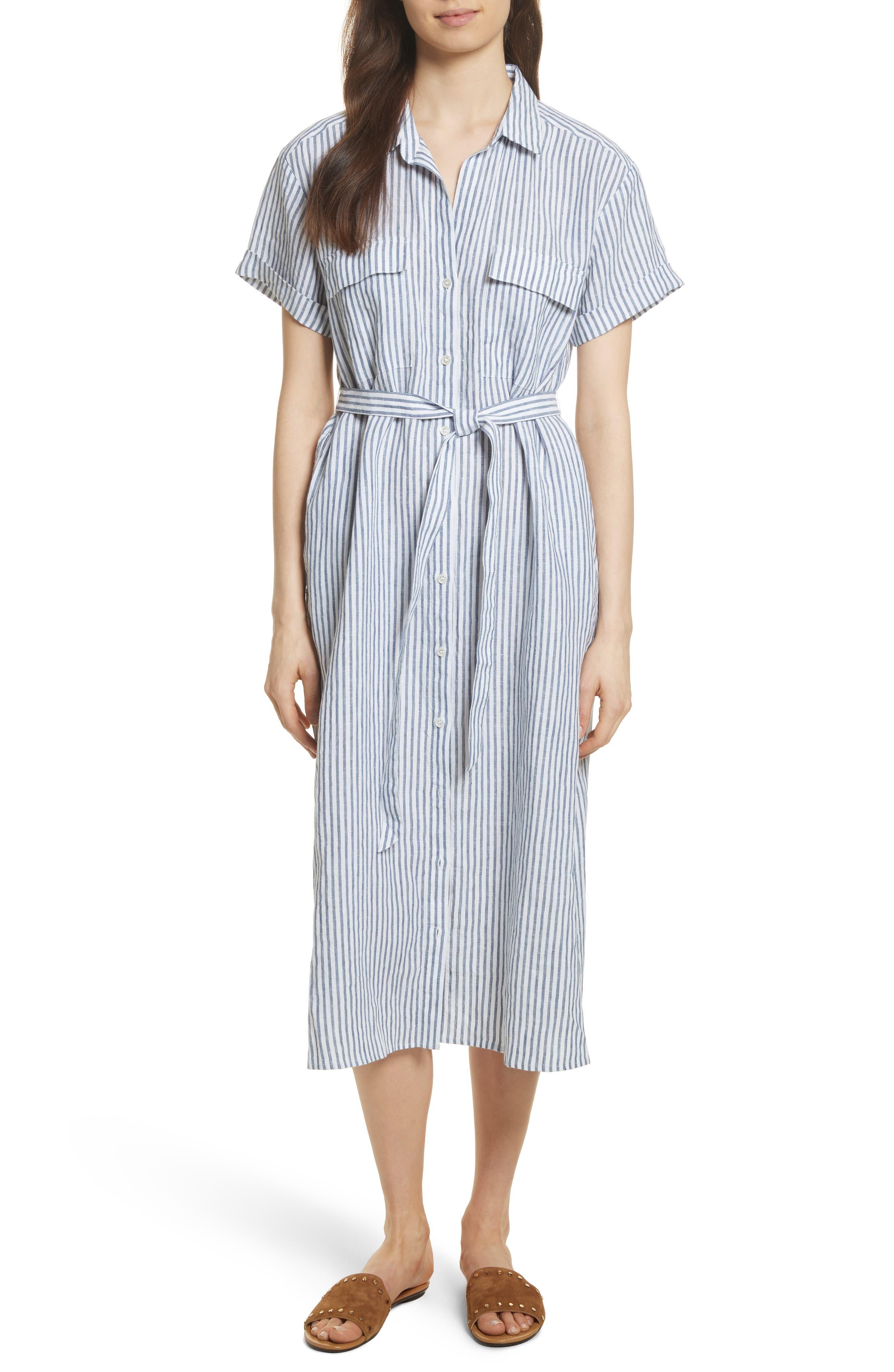 Le Shirt Dress,                         Main,                         color, Medium Blue Multi