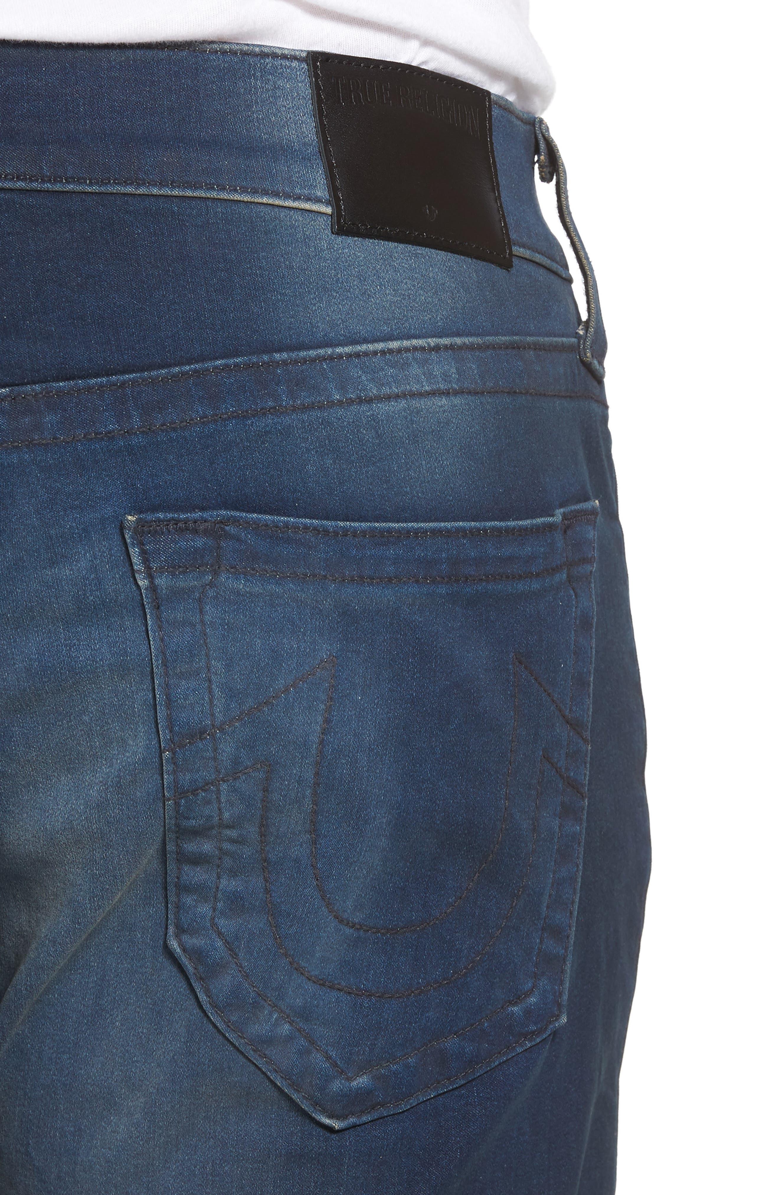 Geno Straight Leg Jeans,                             Alternate thumbnail 4, color,                             Dark Navy