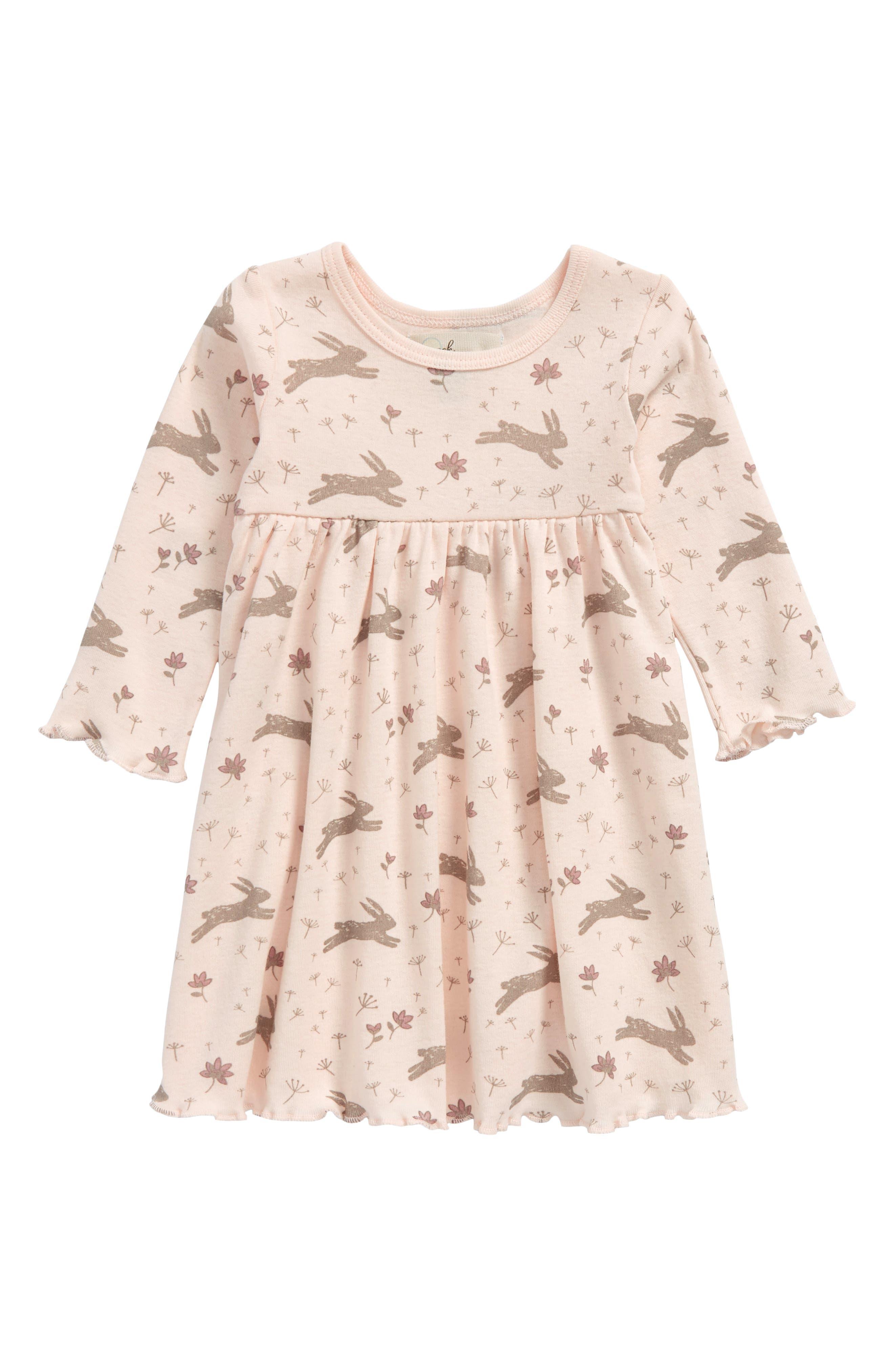 Peek Bunny Dress,                             Main thumbnail 1, color,                             Light Pink