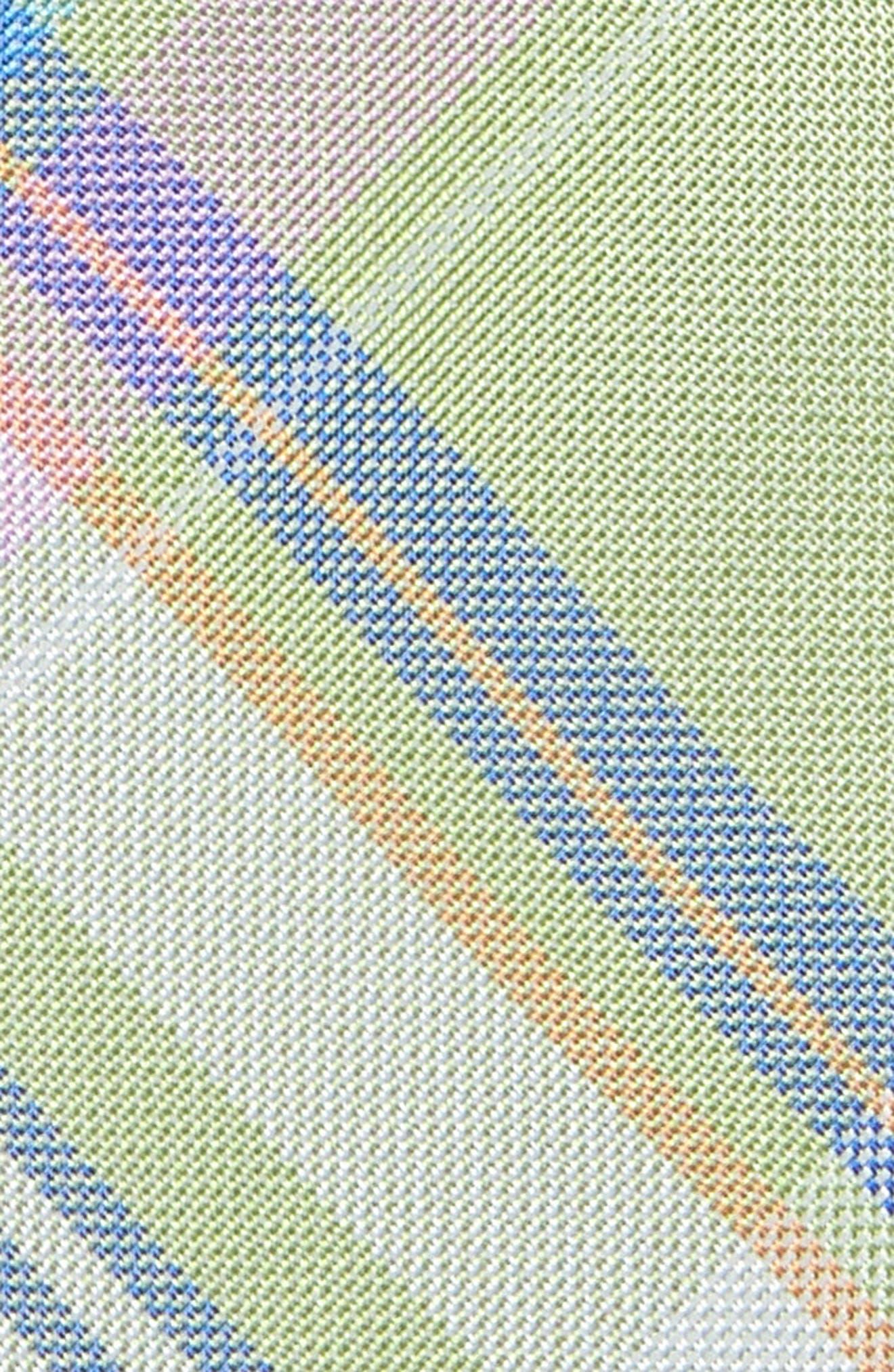 Primavera Plaid Silk Tie,                             Alternate thumbnail 2, color,                             Green