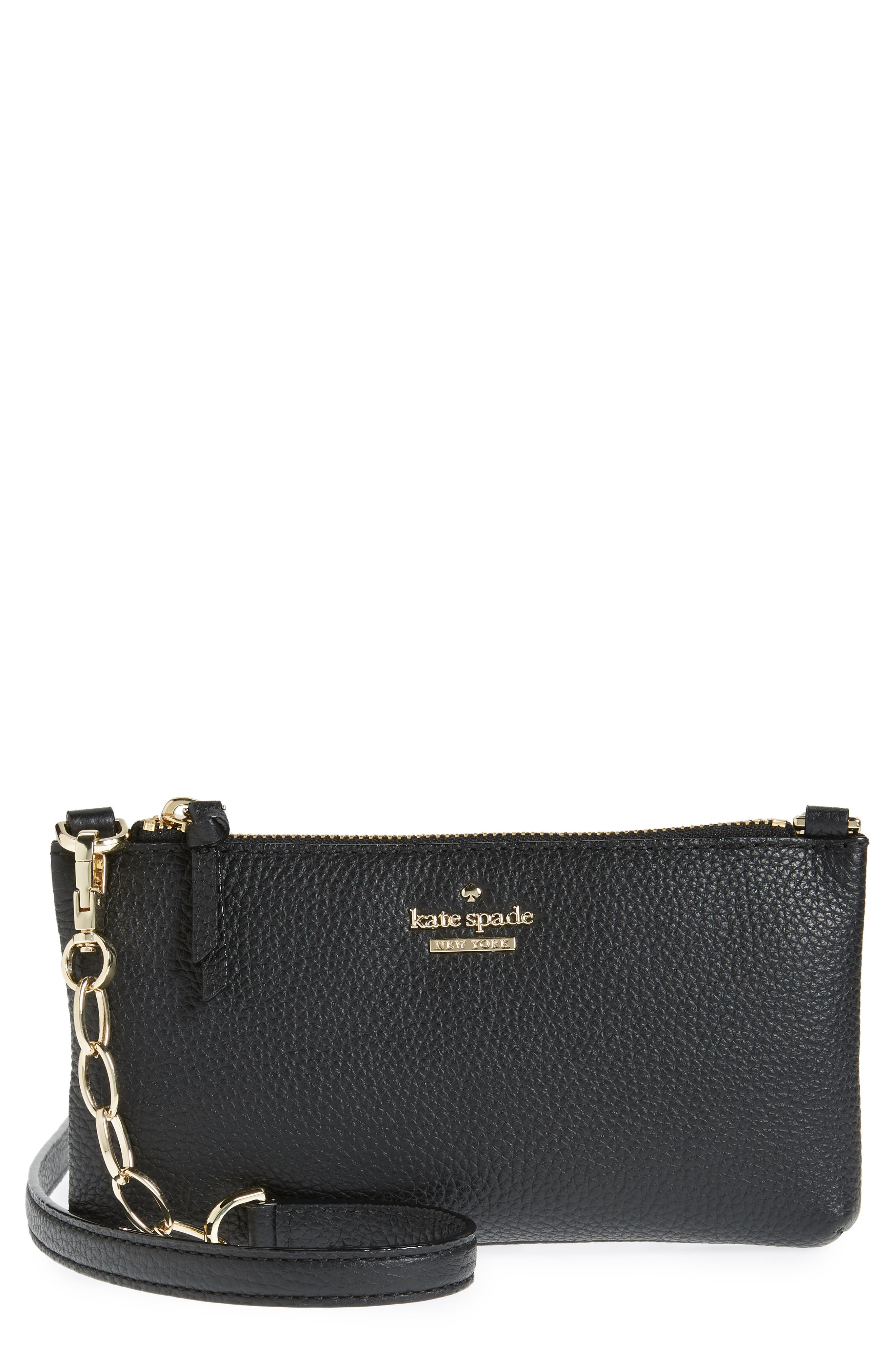 jackson street – dolores leather crossbody bag,                             Main thumbnail 1, color,                             Black
