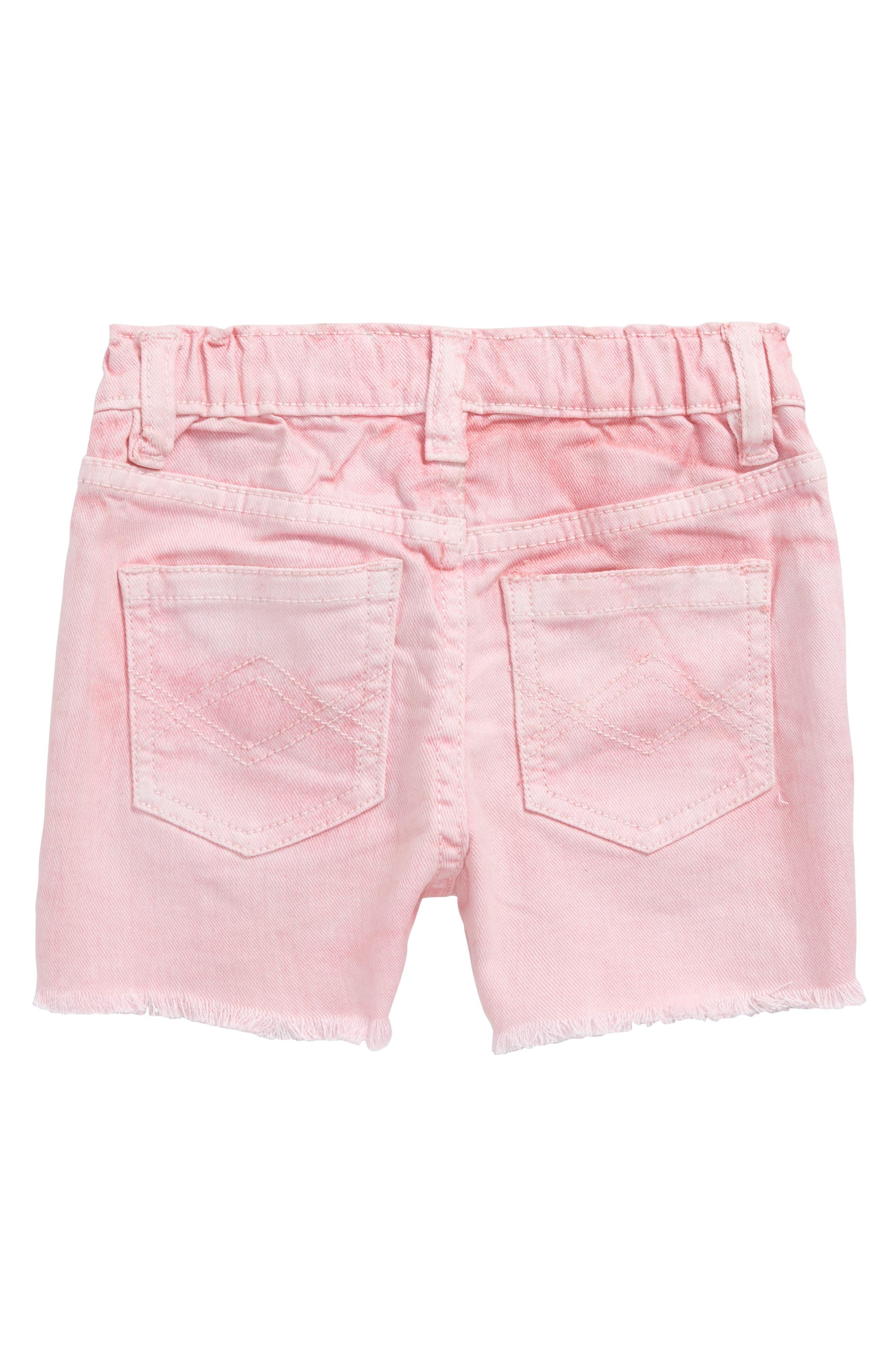 Griffin Cutoff Denim Shorts,                             Alternate thumbnail 2, color,                             Pink