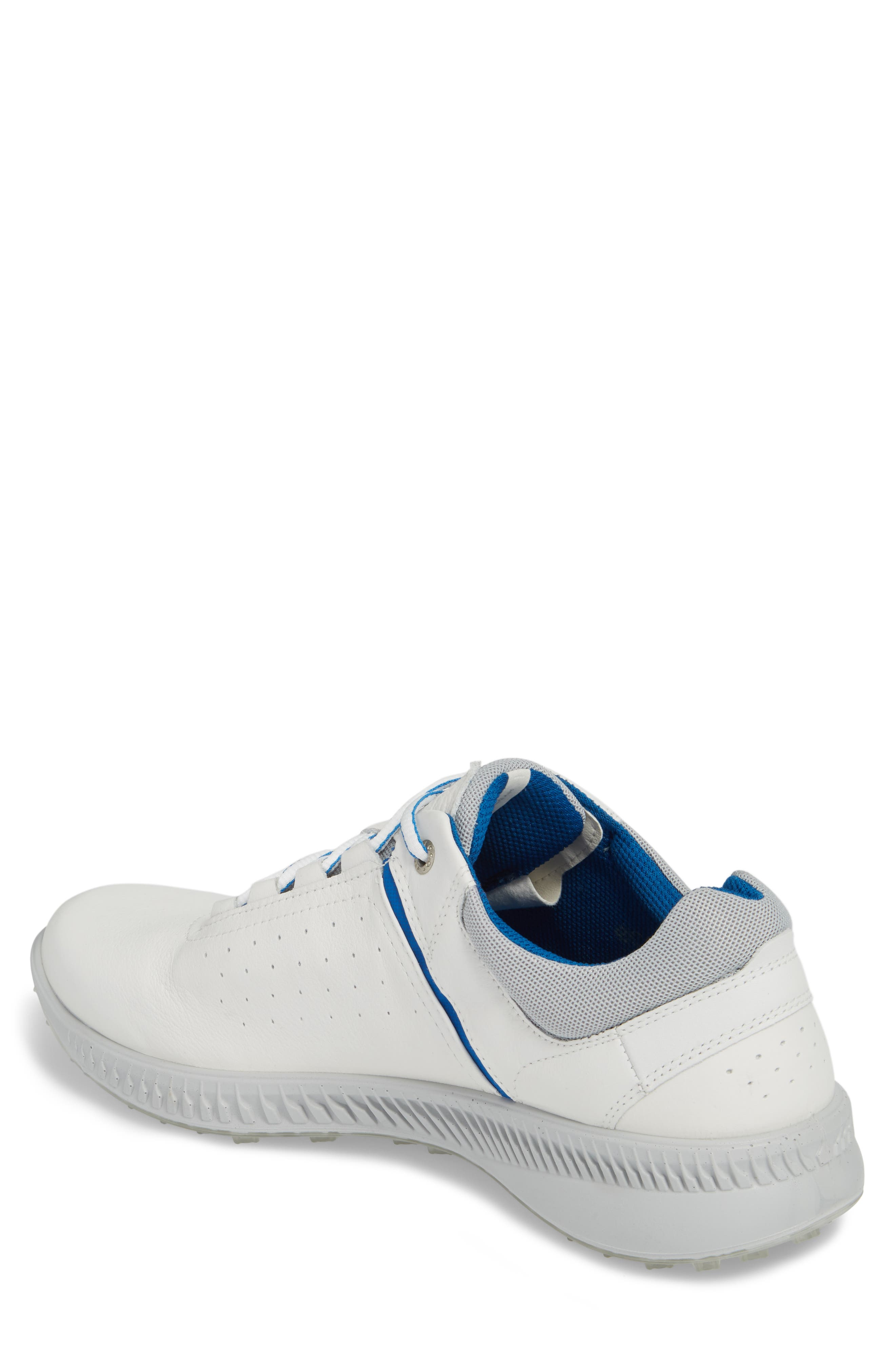 S-Drive Water Repellent Golf Shoe,                             Alternate thumbnail 2, color,                             White Leather