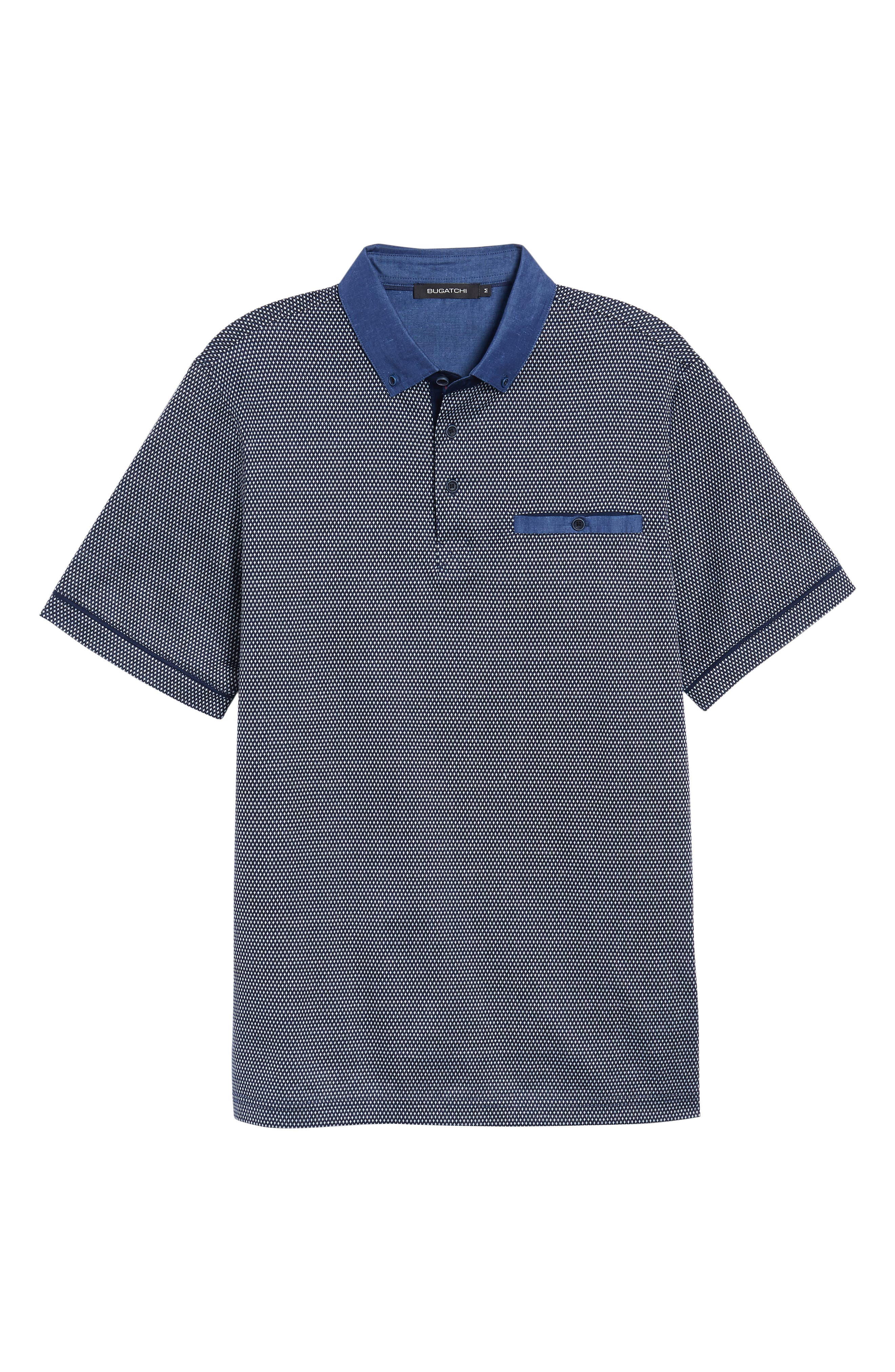 Regular Fit Knit Polo,                             Alternate thumbnail 6, color,                             Navy