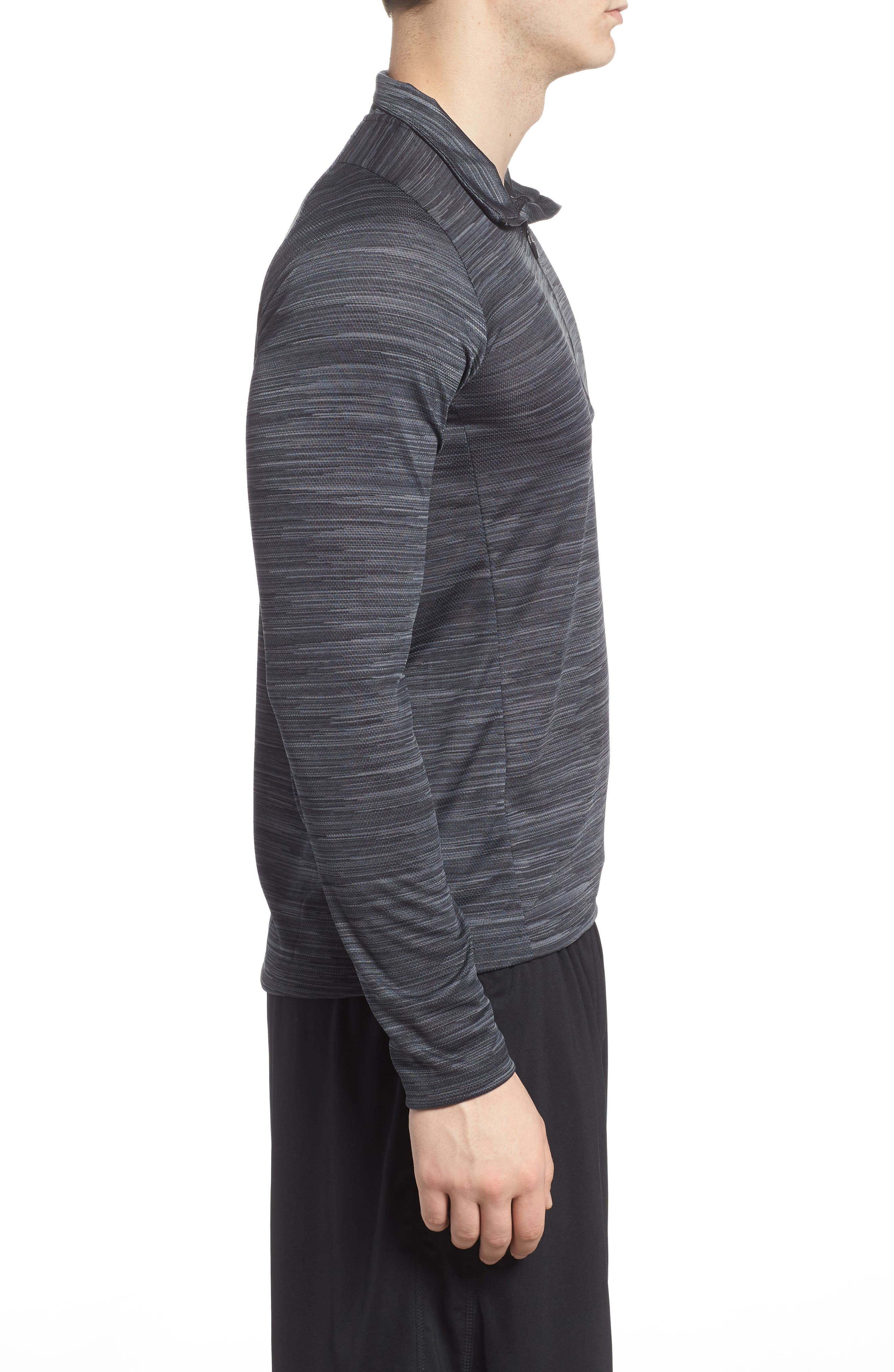 Ultimate Tech Quarter Zip Pullover,                             Alternate thumbnail 3, color,                             Carbon