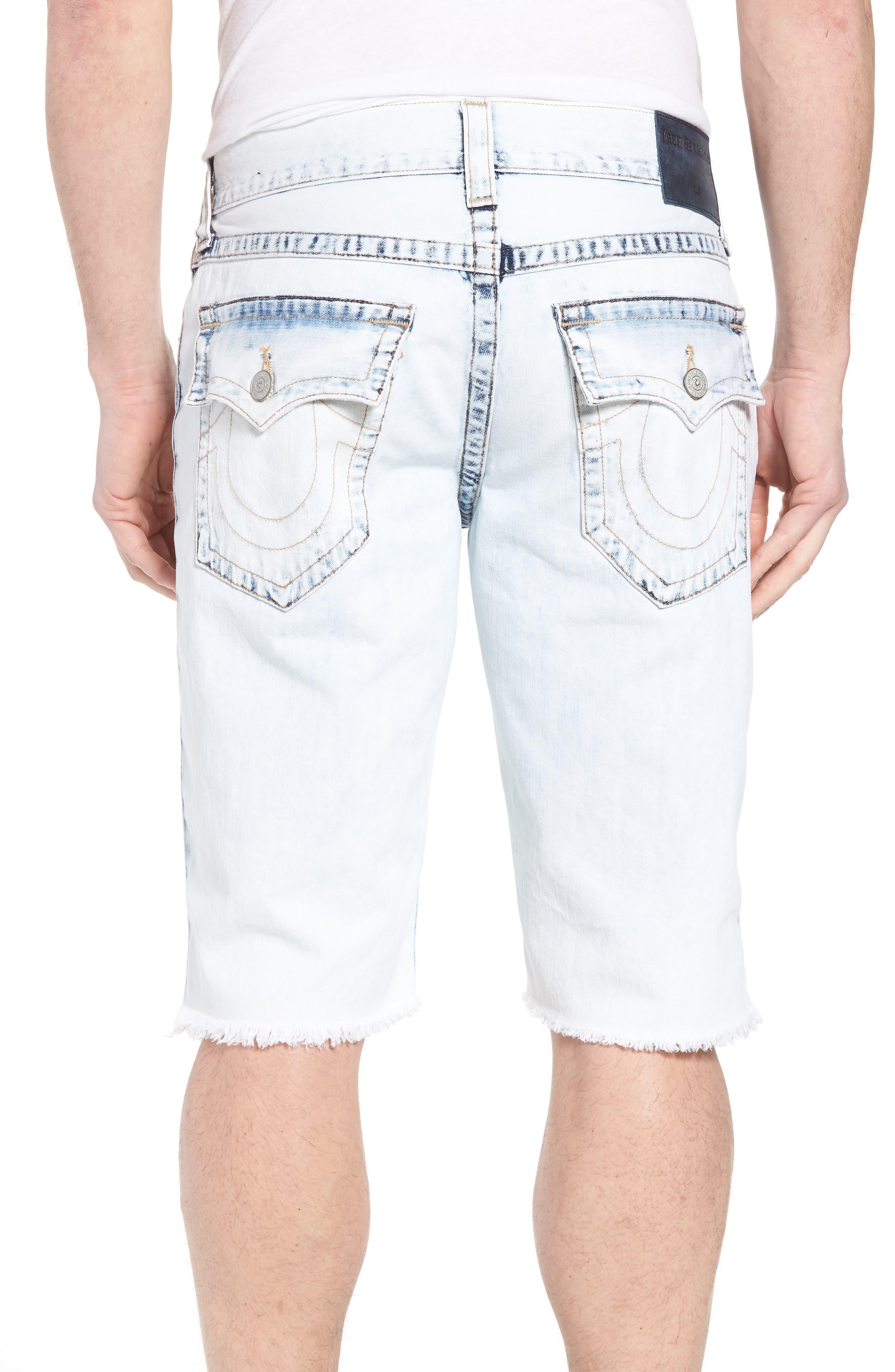 Alternate Image 2  - True Religion Brand Jeans Geno Denim Shorts (Worn Cloudfall)