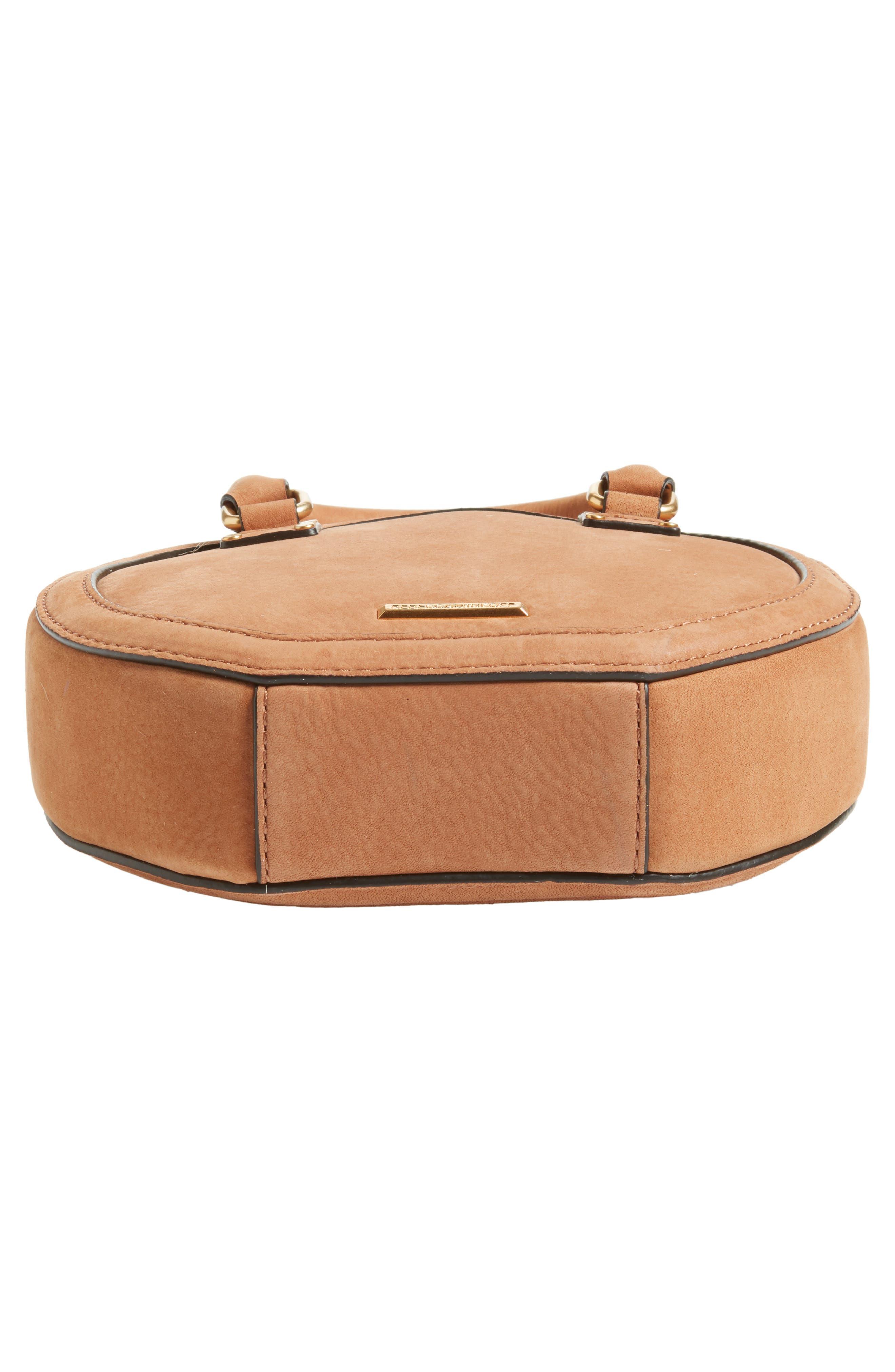 Bree Circle Crossbody Bag,                             Alternate thumbnail 6, color,                             Almond