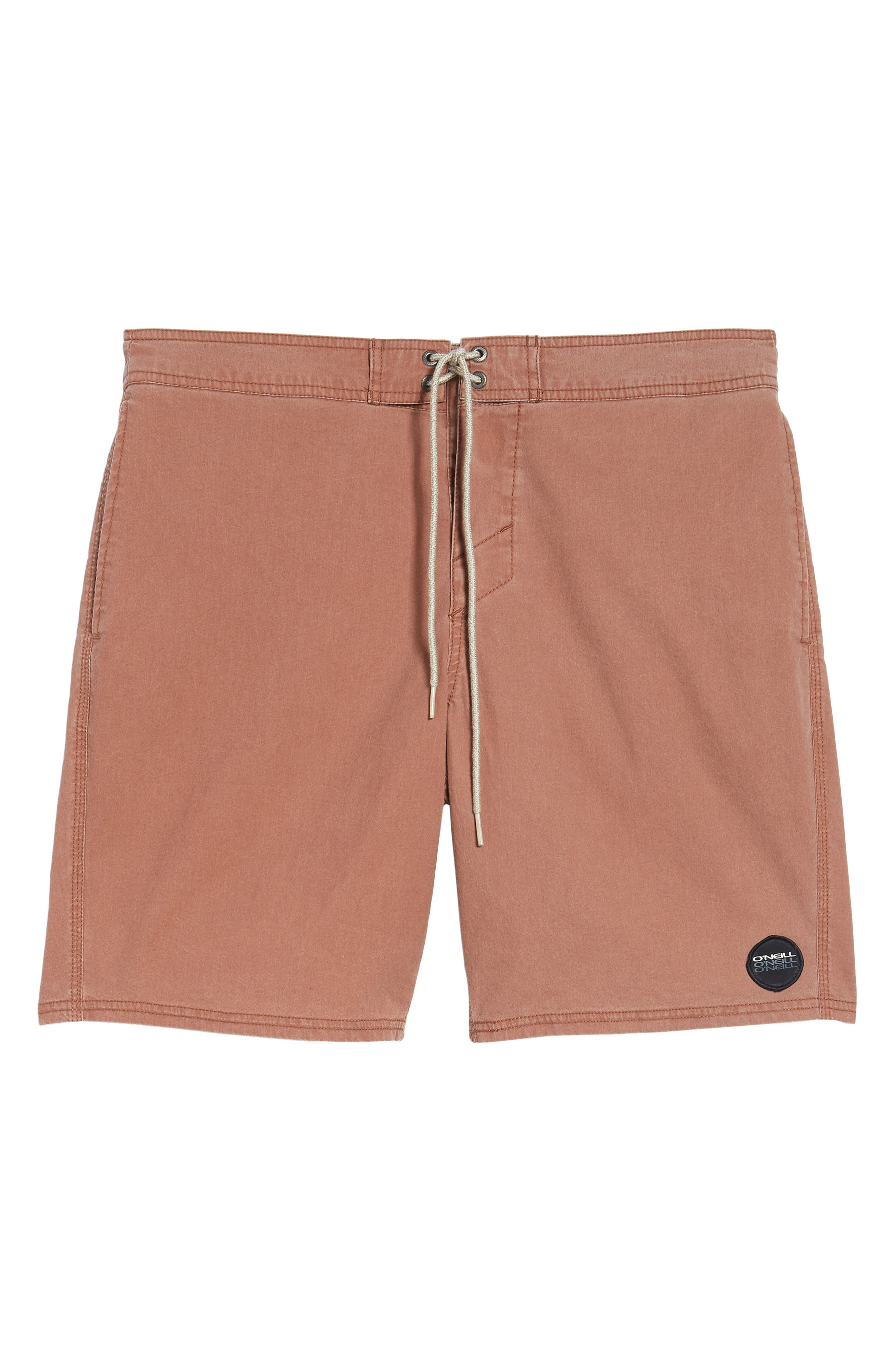 Faded Cruzer Board Shorts,                             Alternate thumbnail 6, color,                             Russet