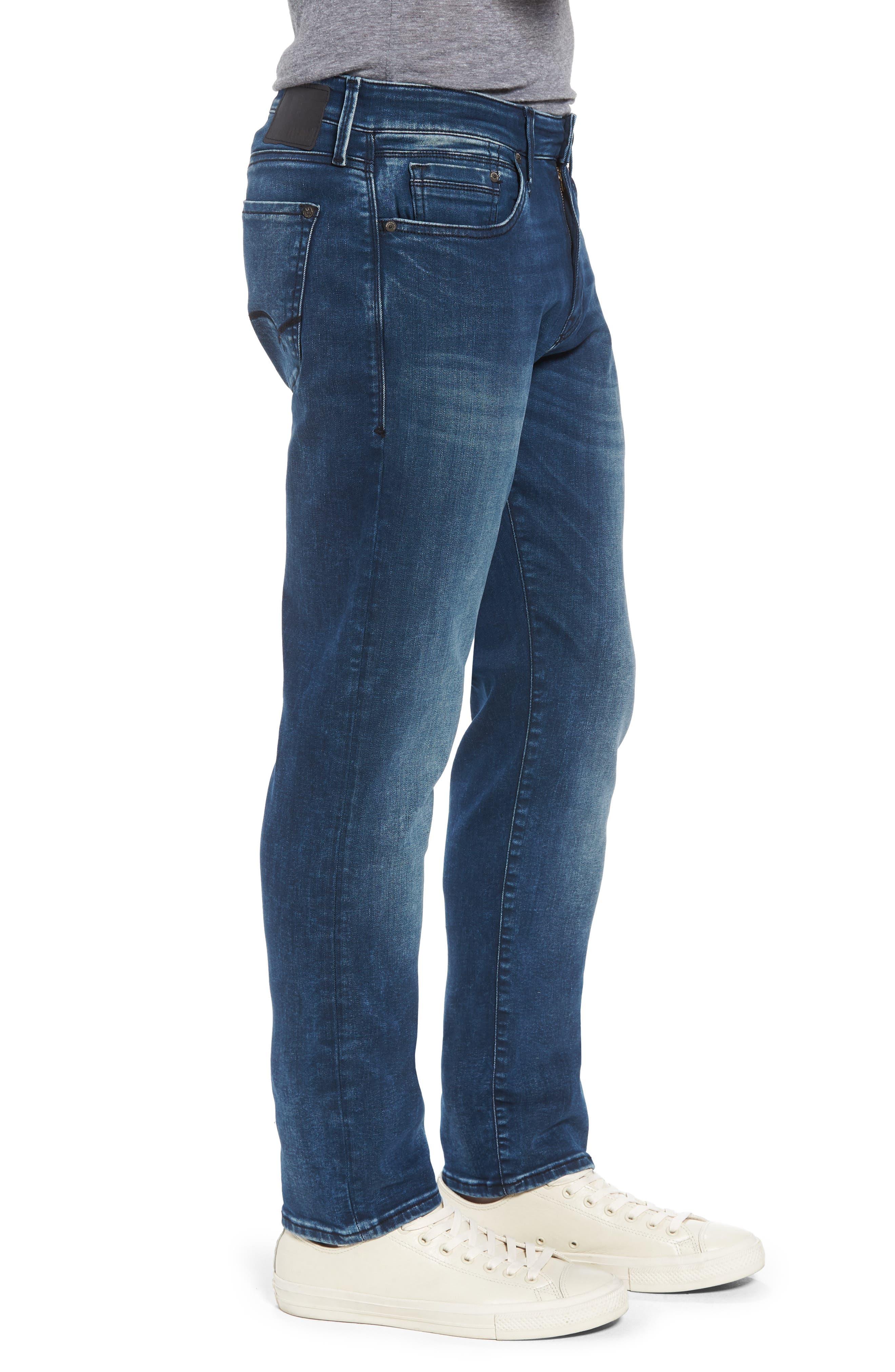 Marcus Slim Straight Leg Jeans,                             Alternate thumbnail 3, color,                             Forest Blue Williamsburg