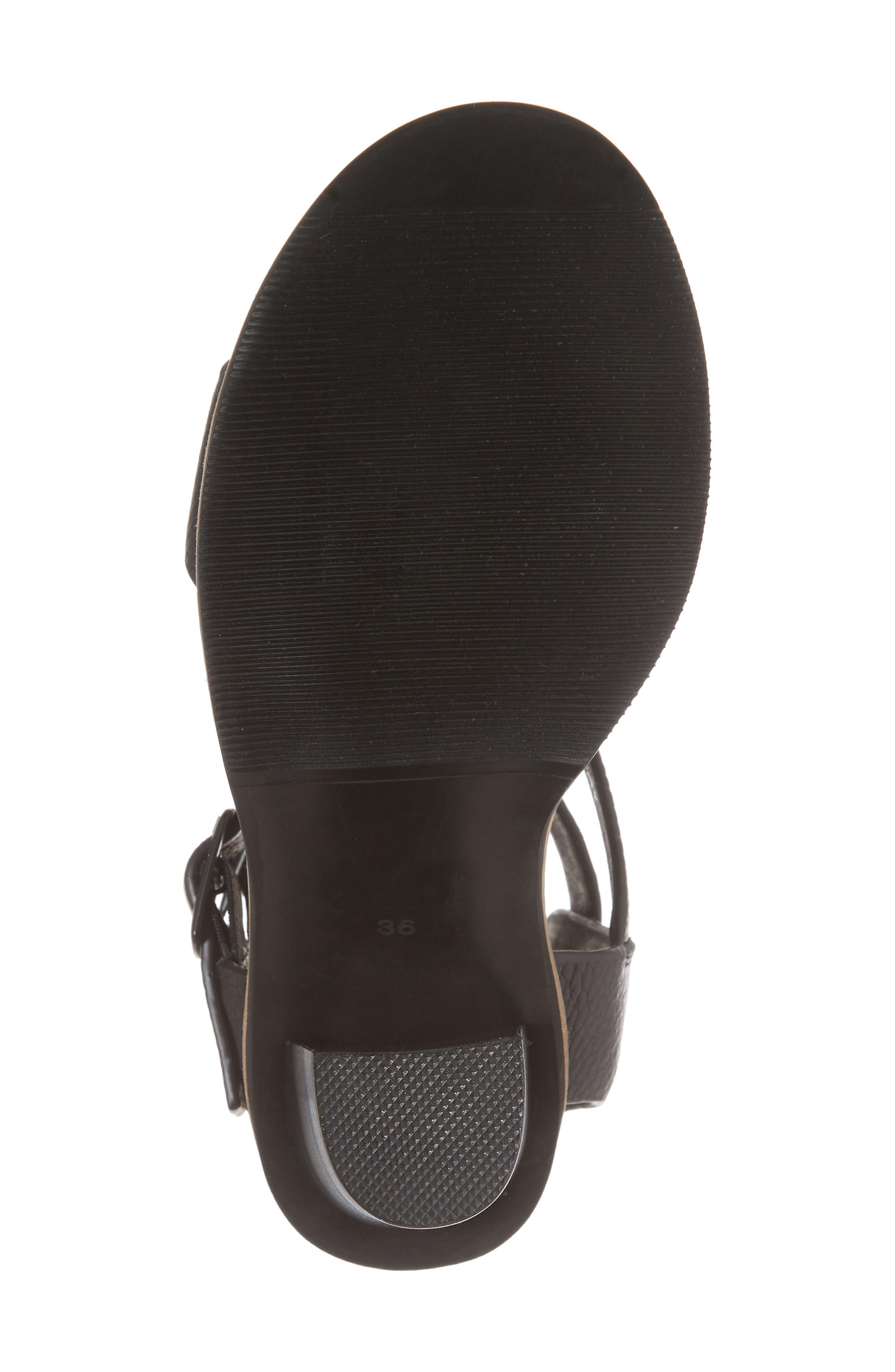 Casper Tall Sandal,                             Alternate thumbnail 6, color,                             Black Leather