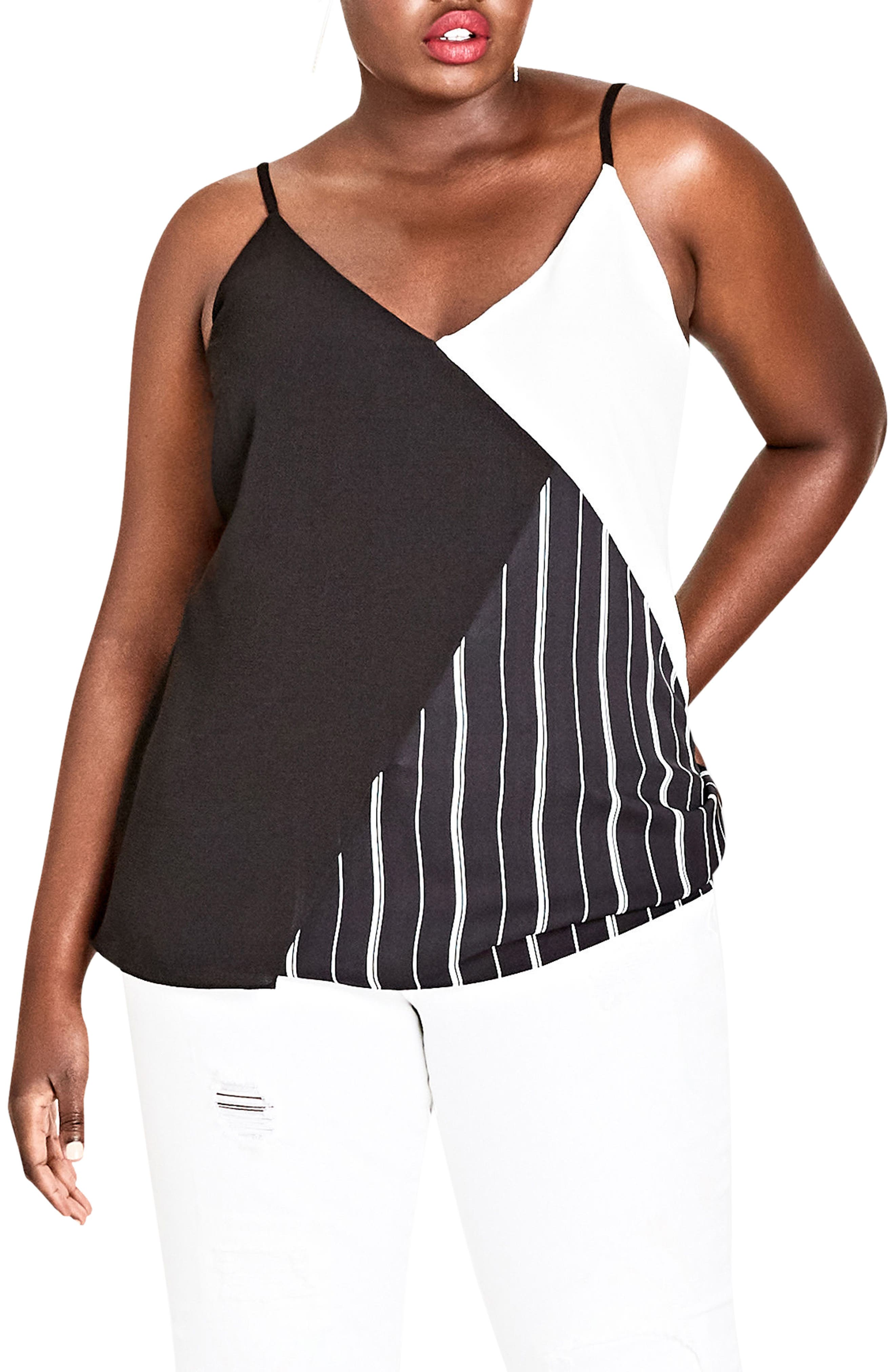 City Chic Abstraction Top (Plus Size)