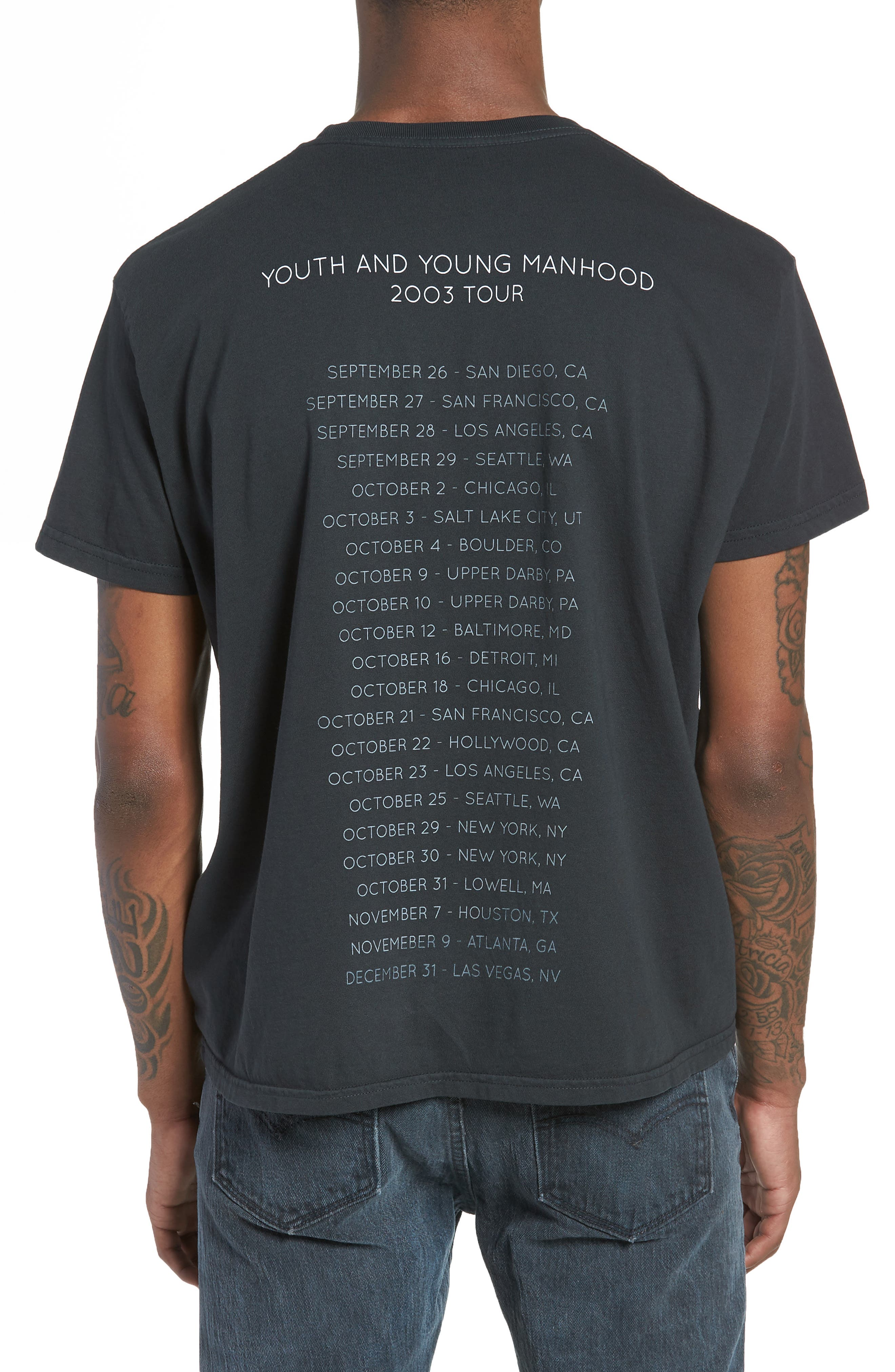 Kings of Leon Youth and Young Manhood T-Shirt,                             Alternate thumbnail 2, color,                             Dusty Black