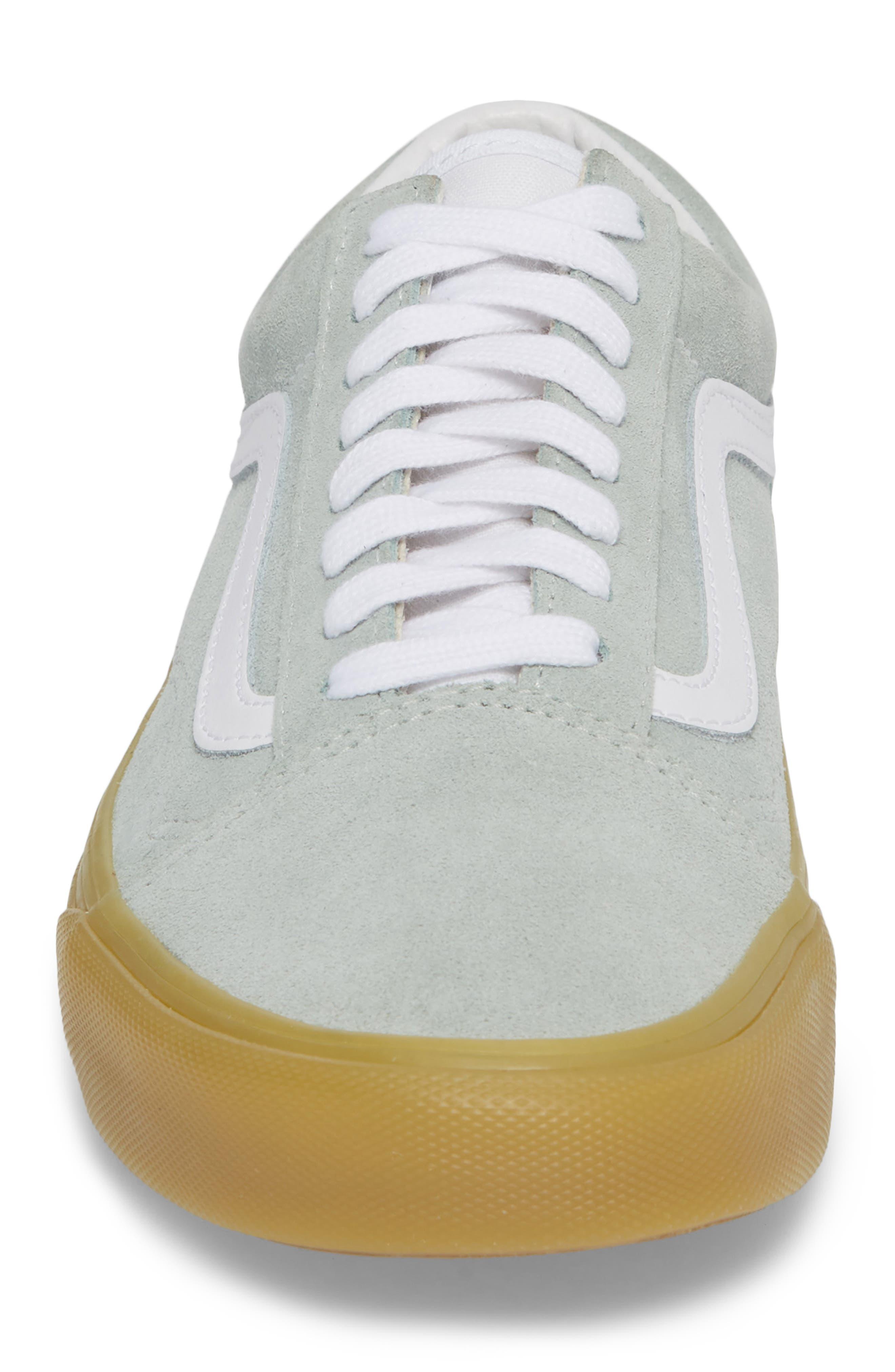 Gum Old Skool Sneaker,                             Alternate thumbnail 4, color,                             Metal Leather