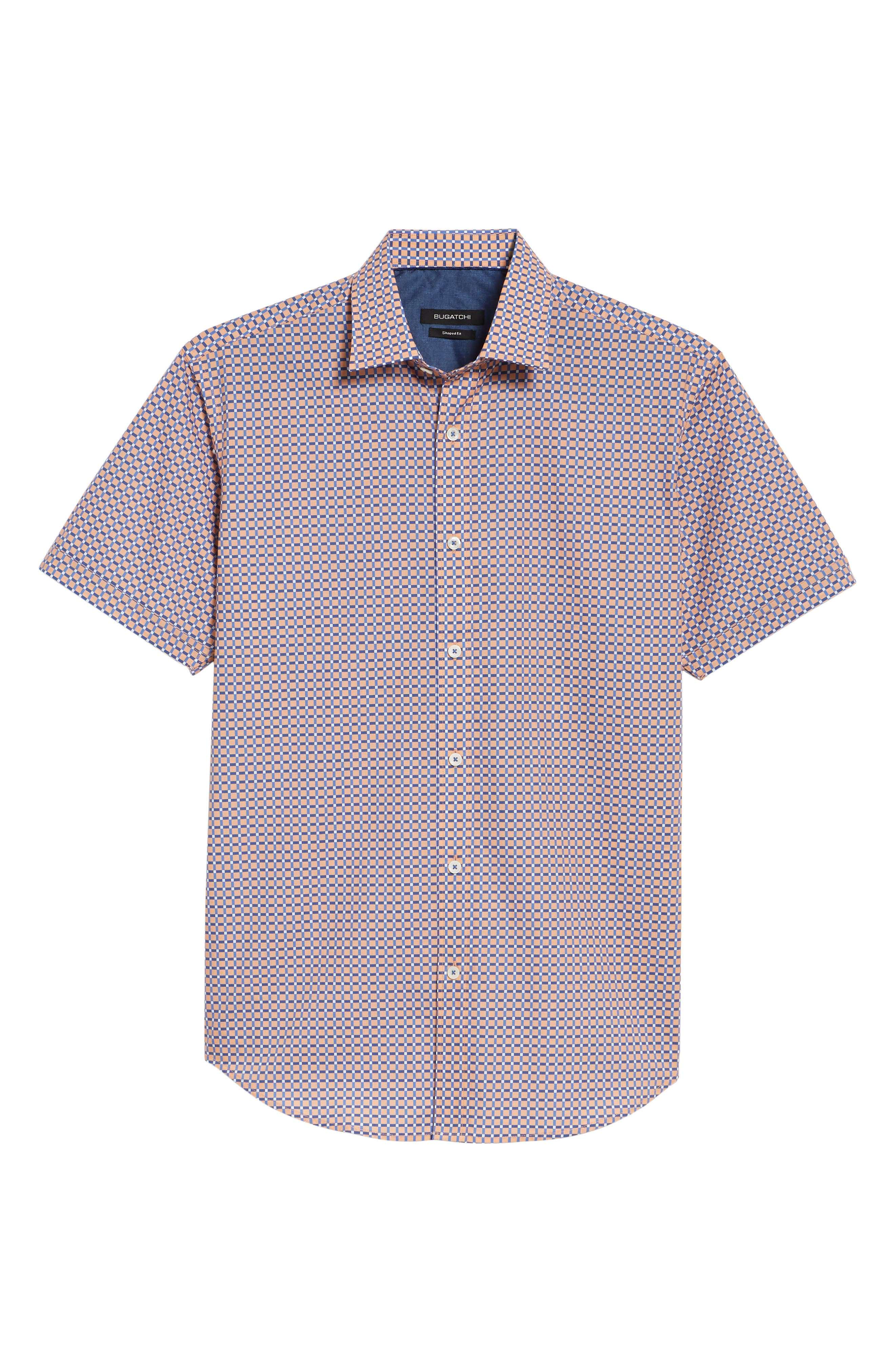 Woven Sport Shirt,                             Alternate thumbnail 6, color,                             Coral