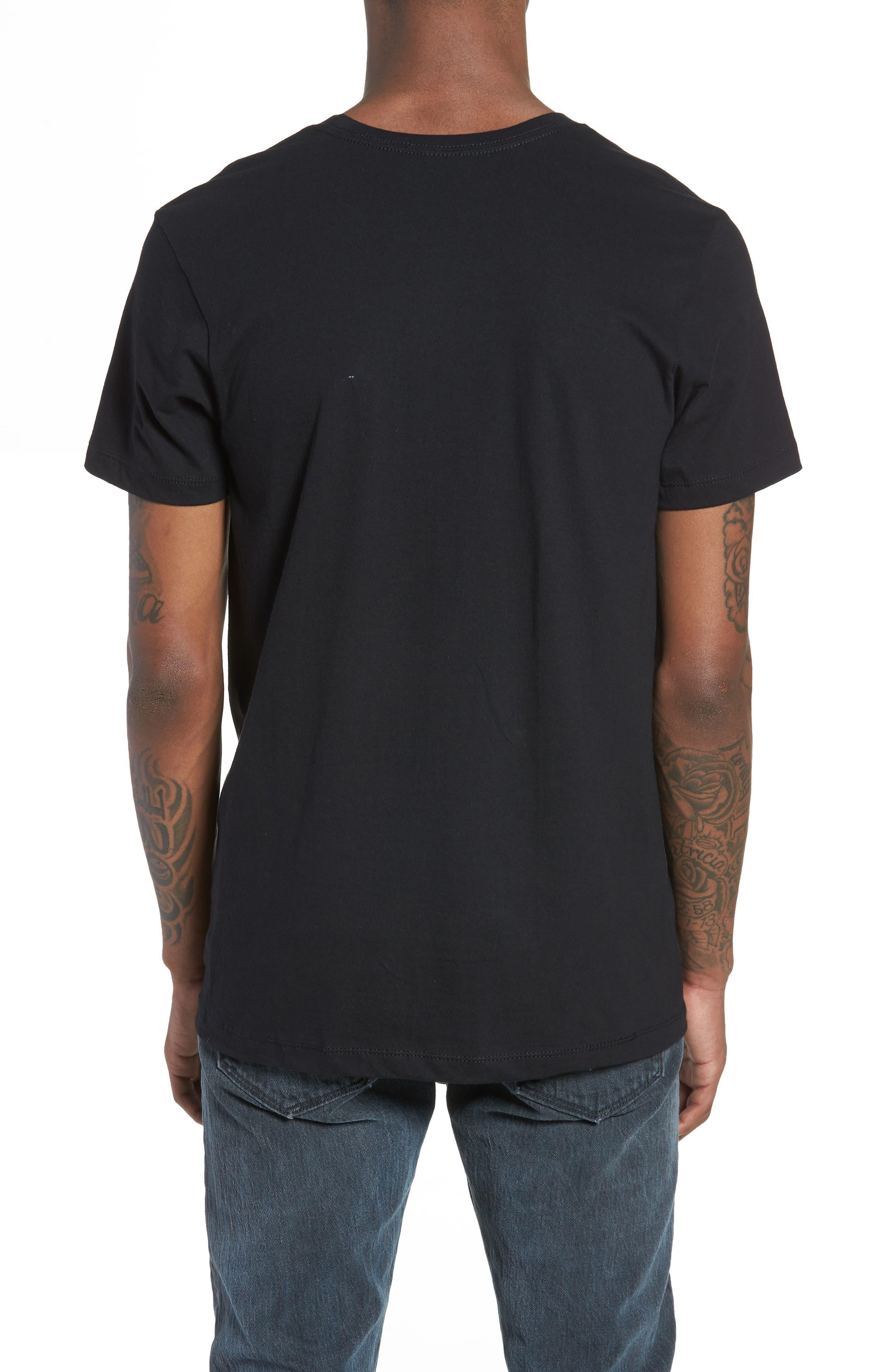 I'm Lucky Graphic T-Shirt,                             Alternate thumbnail 2, color,                             Black Tee Leprechaun
