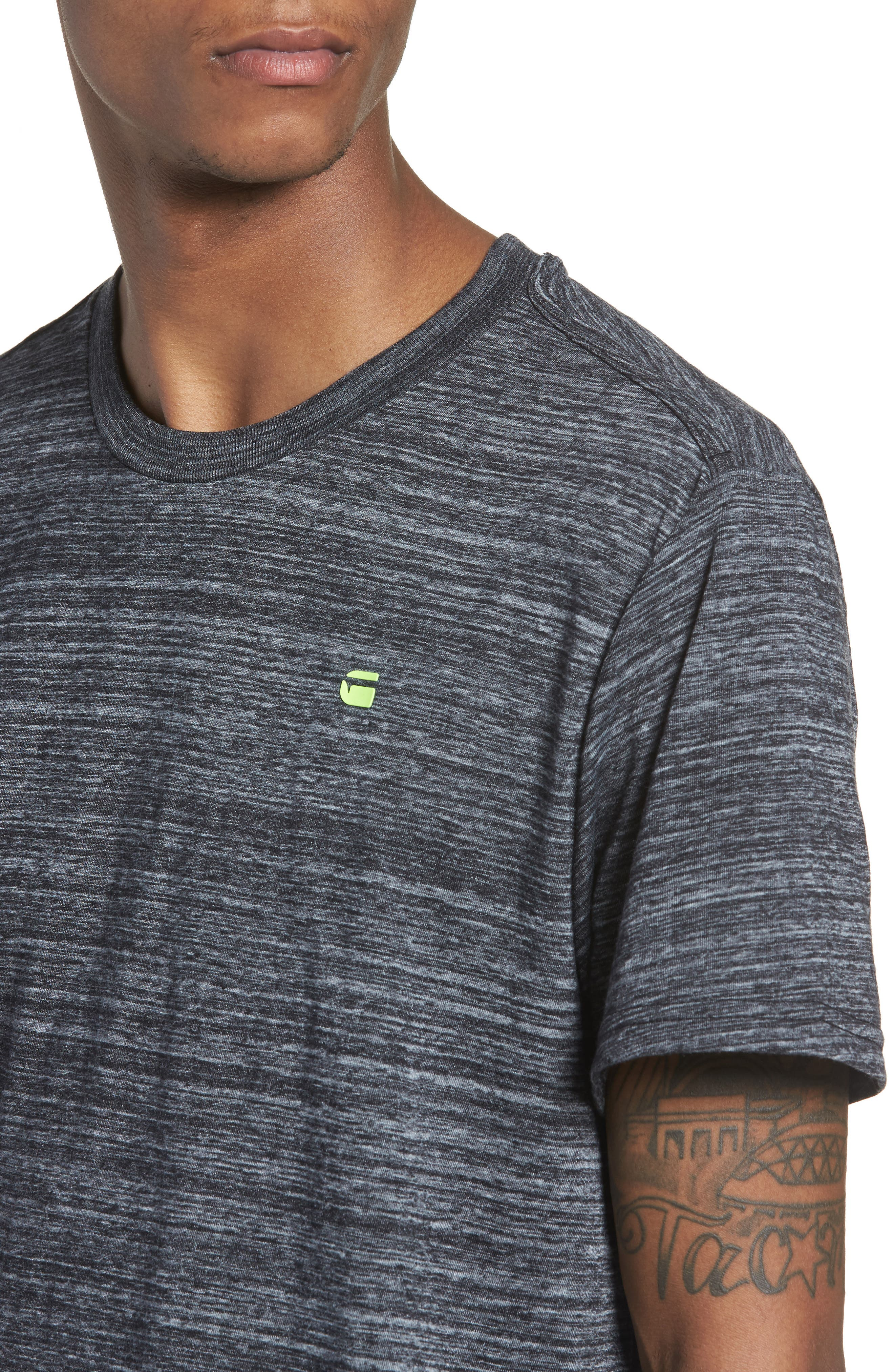 New Classic Regular T-Shirt,                             Alternate thumbnail 4, color,                             Dark Black Heather