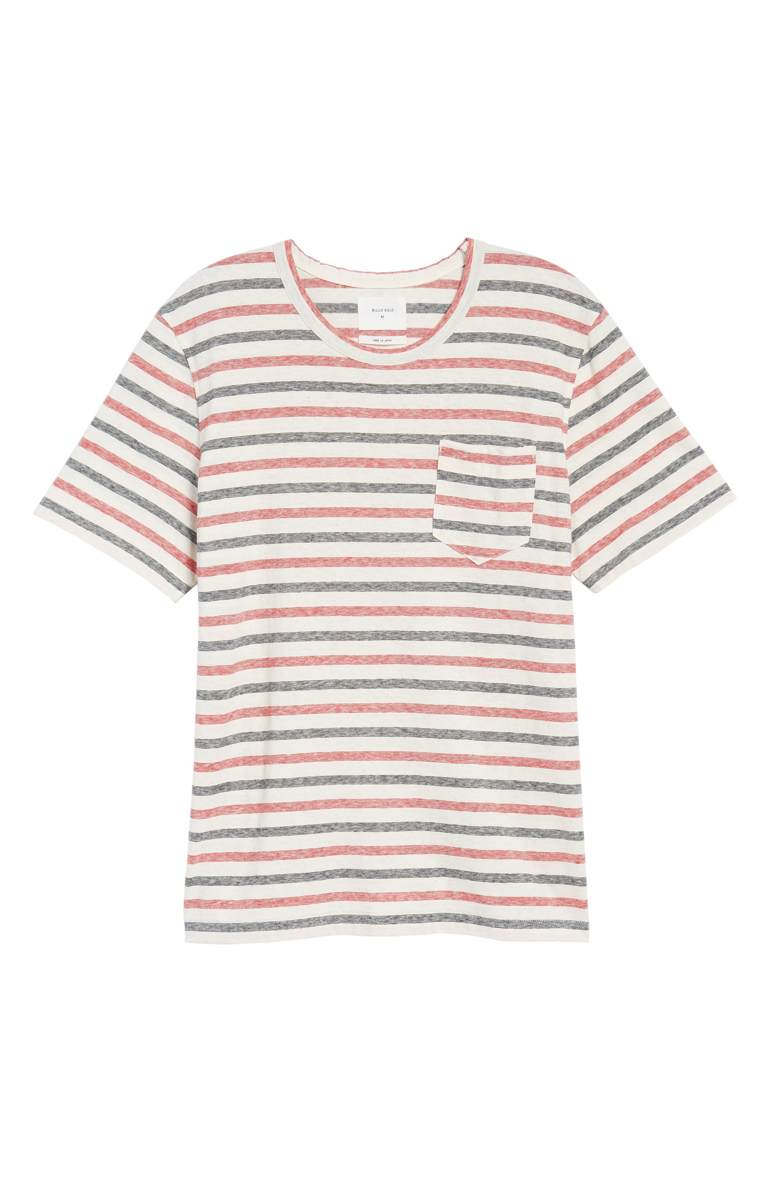 Striped T-Shirt,                             Alternate thumbnail 6, color,                             Red