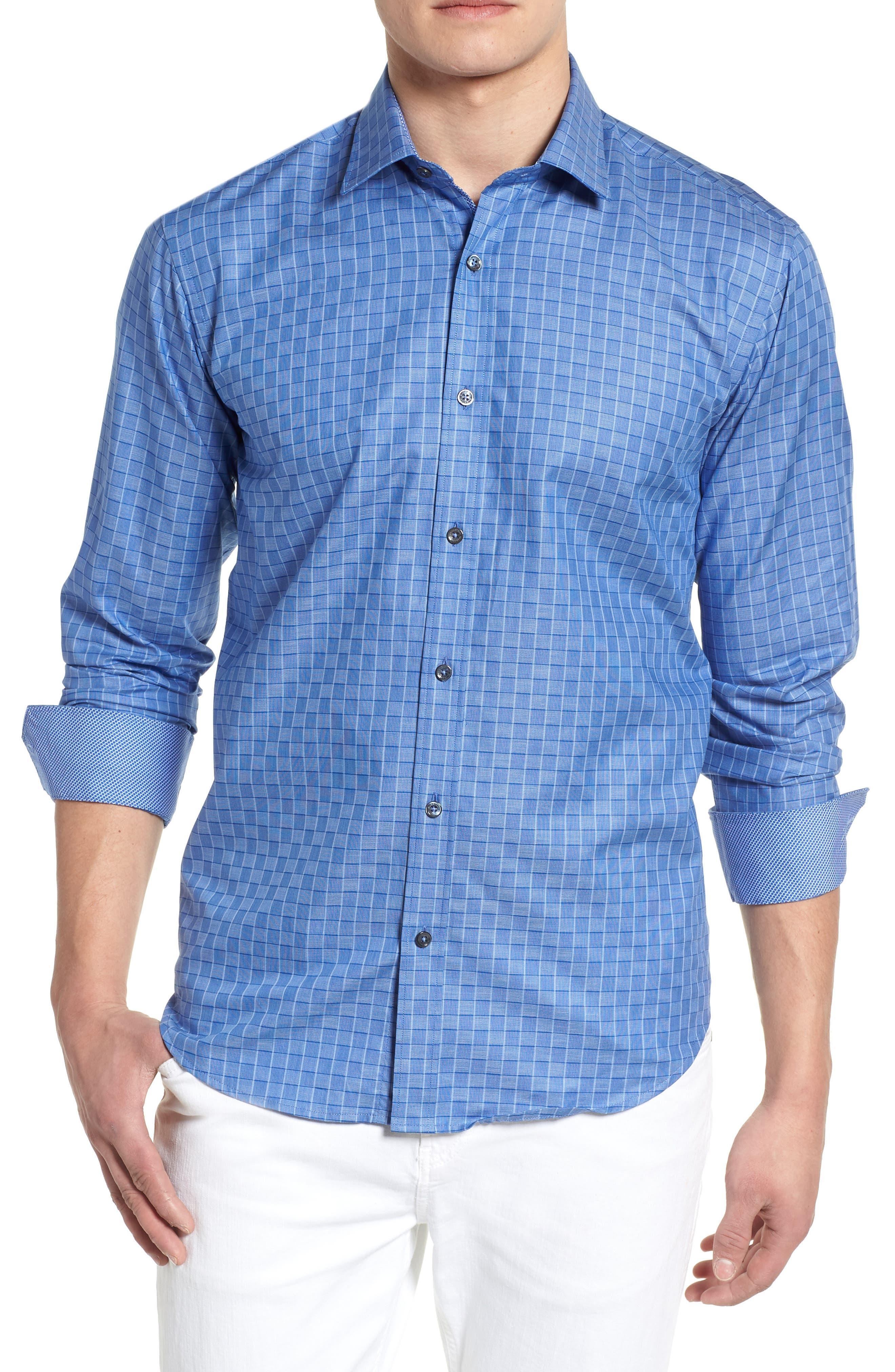 Woven Sport Shirt,                         Main,                         color, Classic Blue