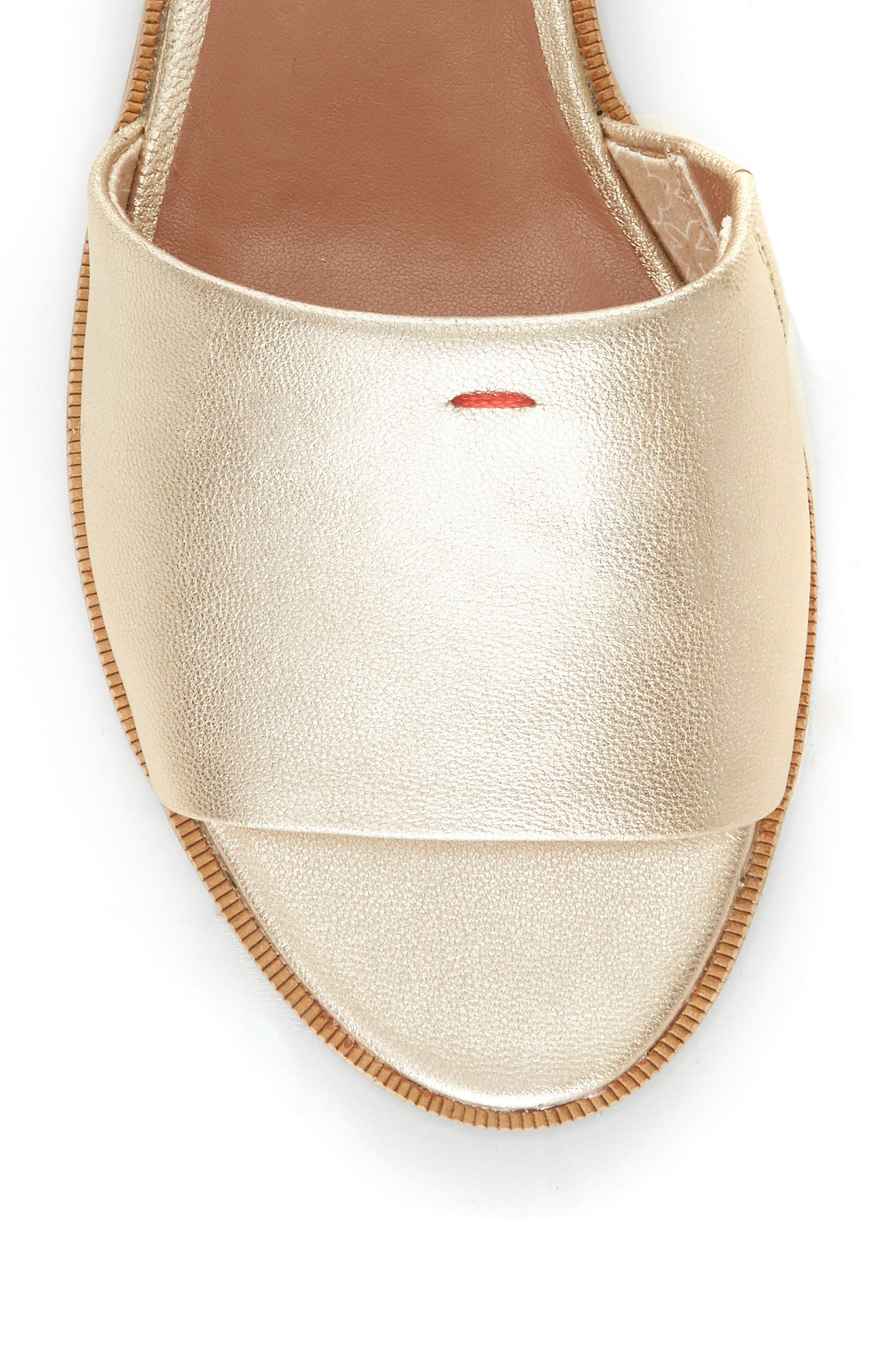 Solay Sandal,                             Alternate thumbnail 5, color,                             Prosecco Leather