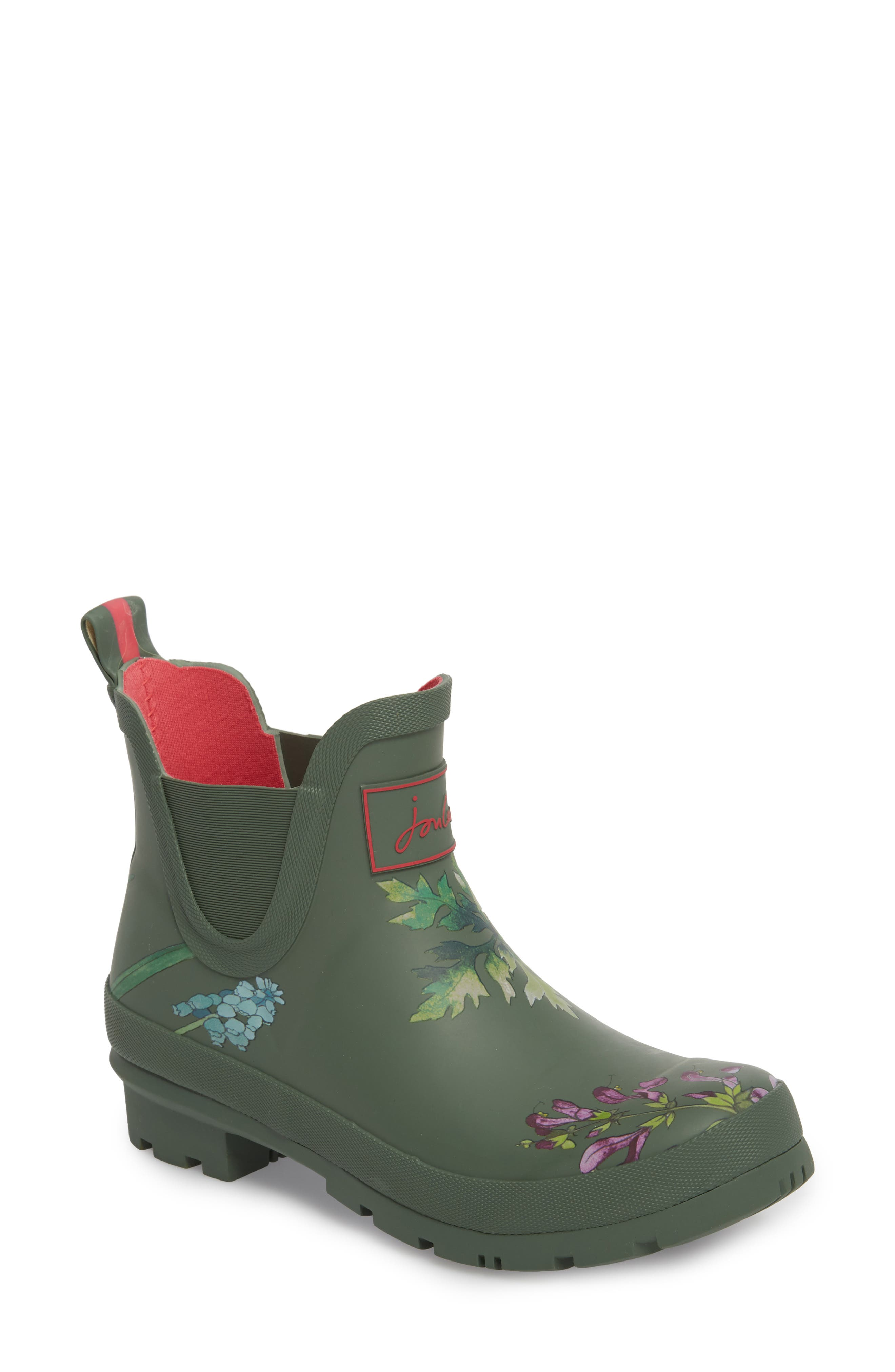 'Wellibob' Short Rain Boot,                             Main thumbnail 1, color,                             Laurel Botanical
