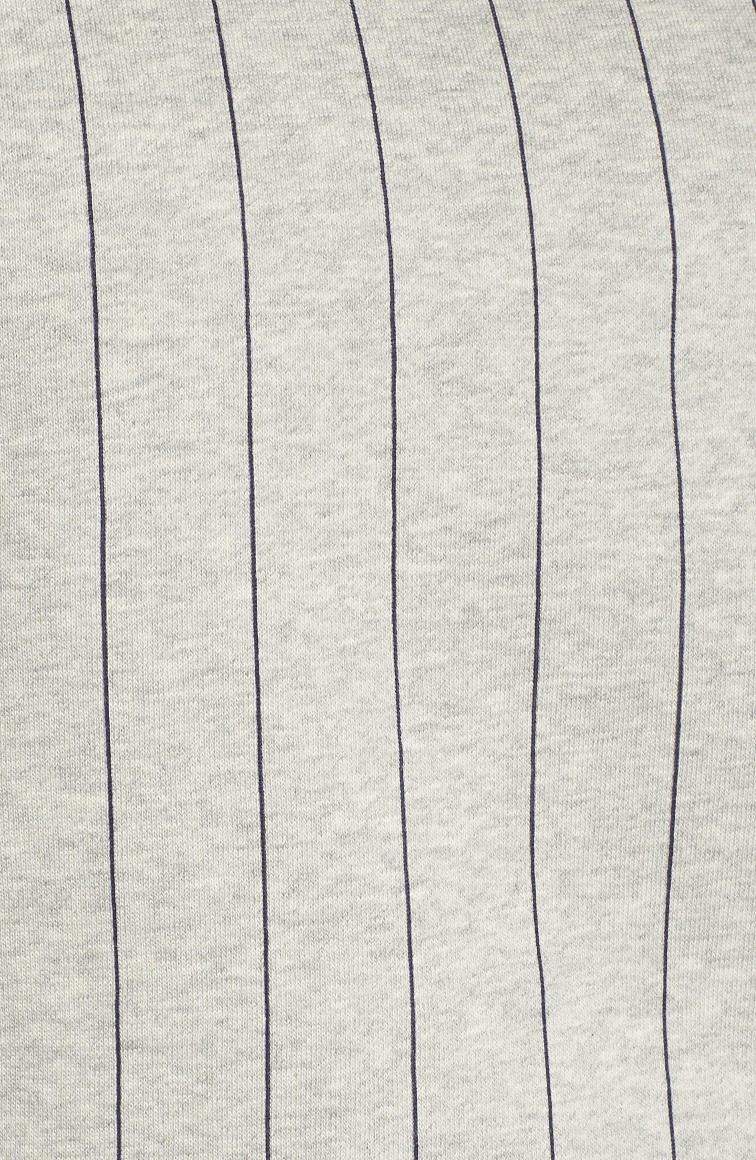 Bren Stripe Sweatshirt,                             Alternate thumbnail 7, color,                             Light Grey Marl/ Peacoat