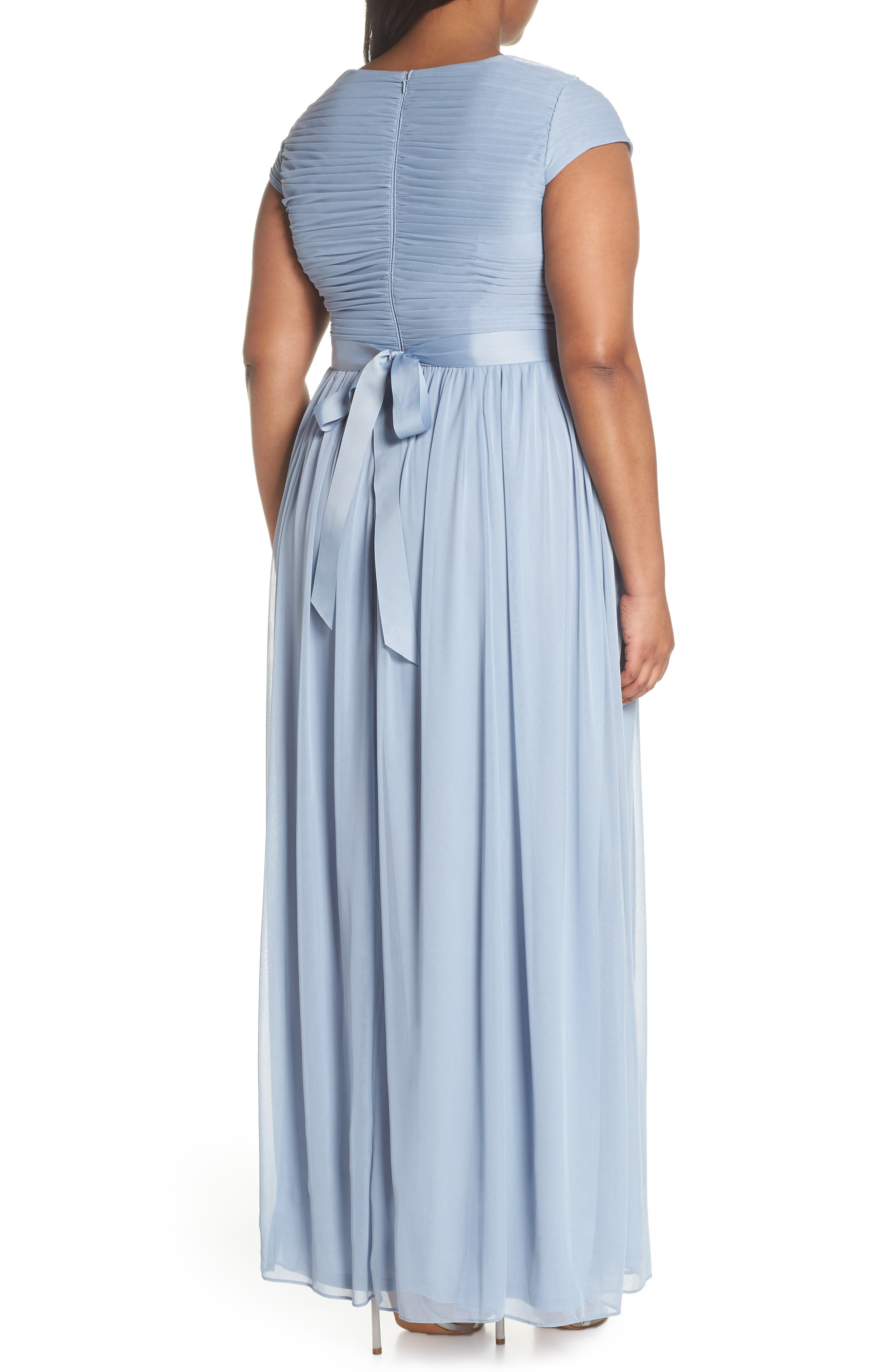 Tulle Gown,                             Alternate thumbnail 2, color,                             Dusty Periwinkle