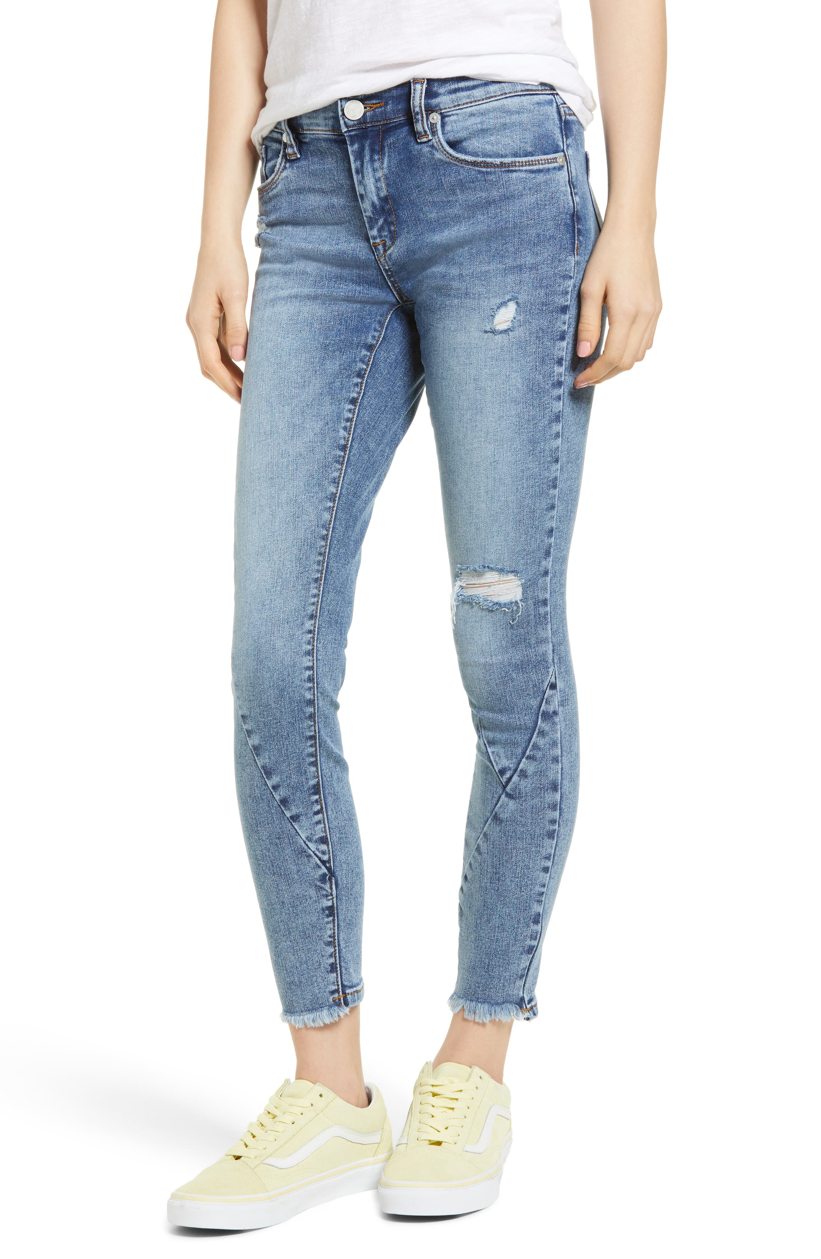 The Reade Seam Detail Skinny Jeans,                             Main thumbnail 1, color,                             Burn Notice