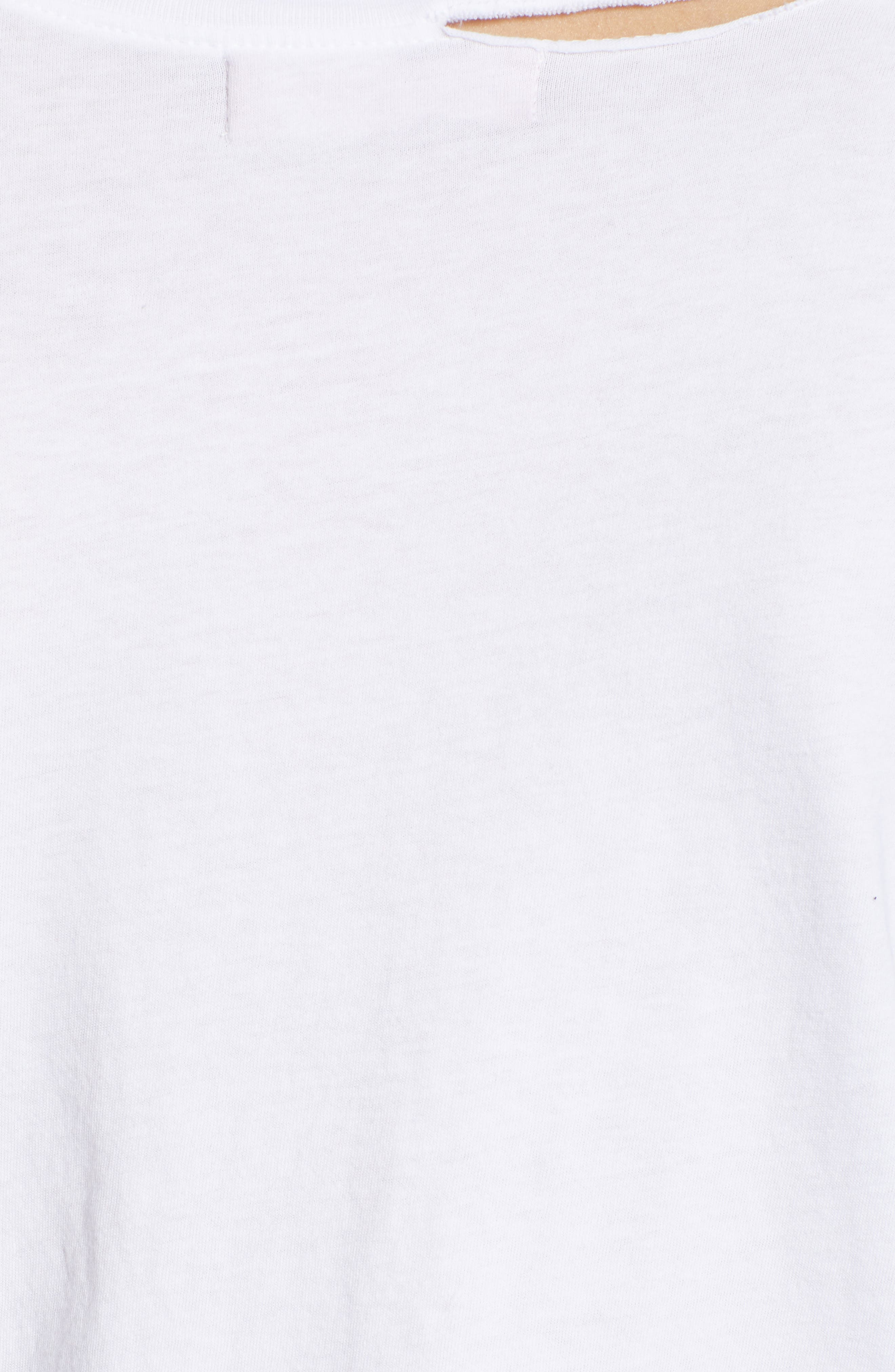 Harlow Embroidered Tee,                             Alternate thumbnail 6, color,                             White