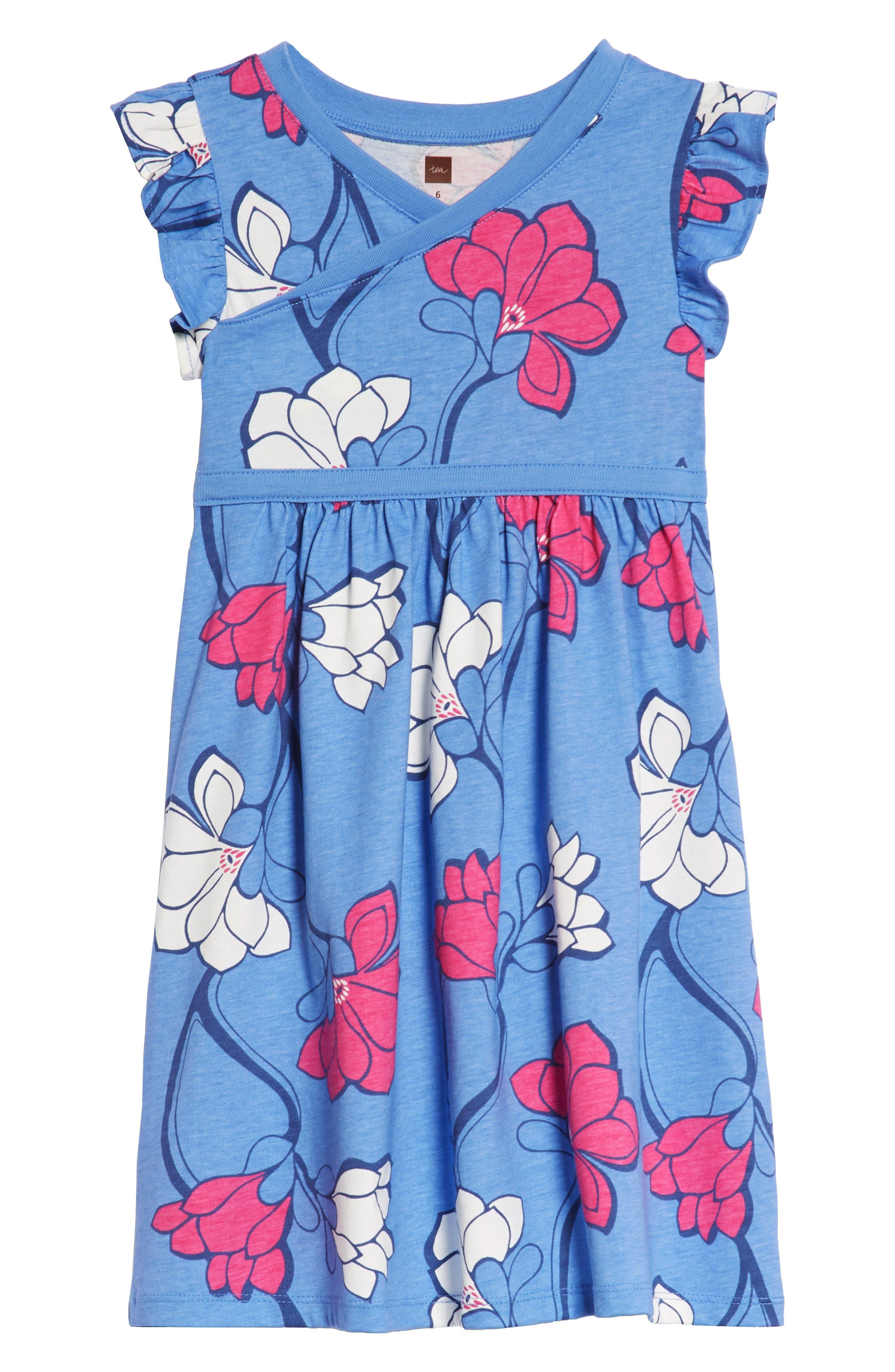 Wrap Neck Dress,                         Main,                         color, Magnolia Flower