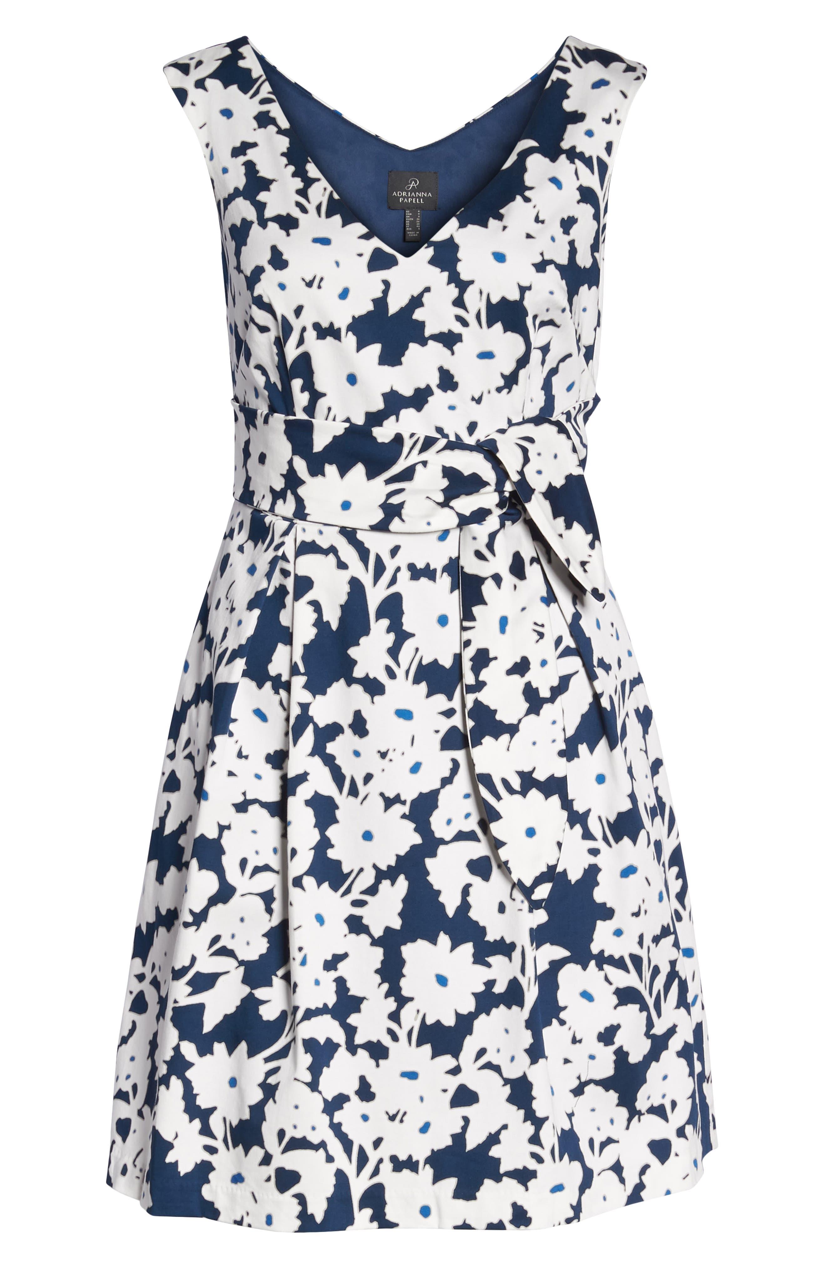 Alternate Image 6  - Adrianna Papell Daisy Field Fit & Flare Dress