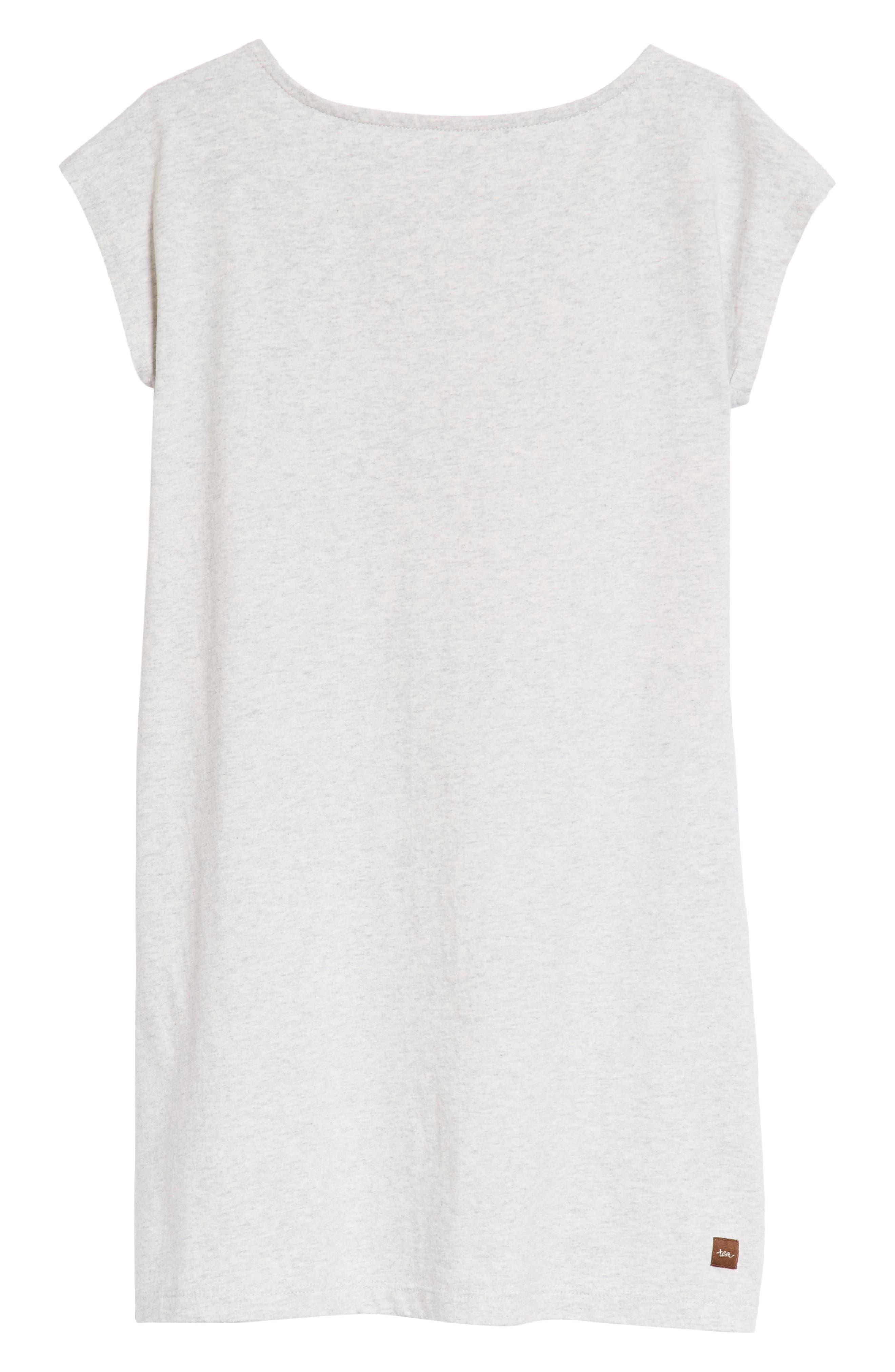 Flamingo T-Shirt Dress,                             Alternate thumbnail 2, color,                             Light Grey Heather