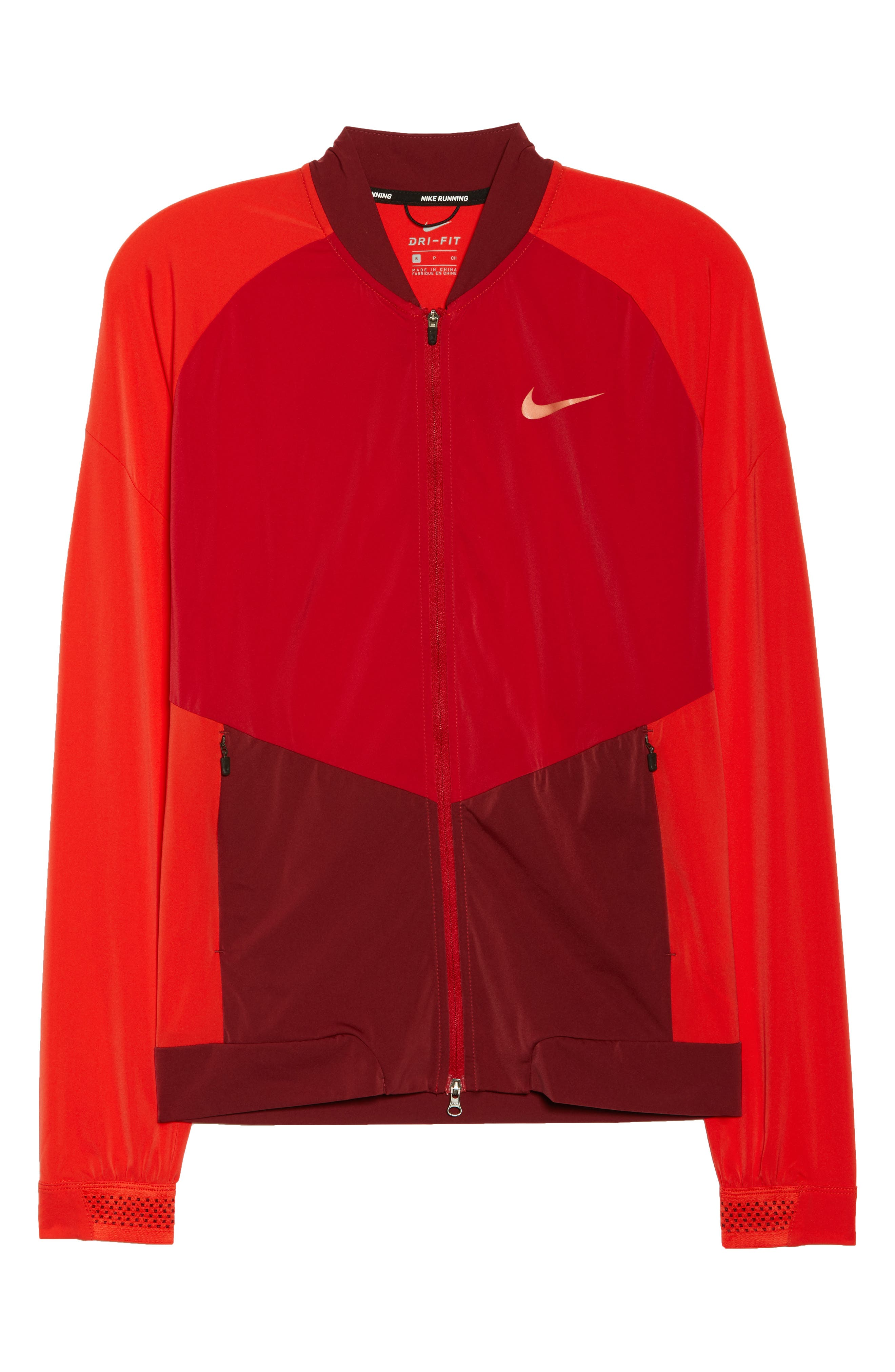 Dry Stadium Jacket,                             Alternate thumbnail 7, color,                             Habanero Red/ Coral