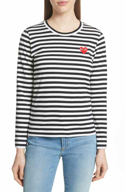 Comme des Gar?ons PLAY Stripe Cotton Tee