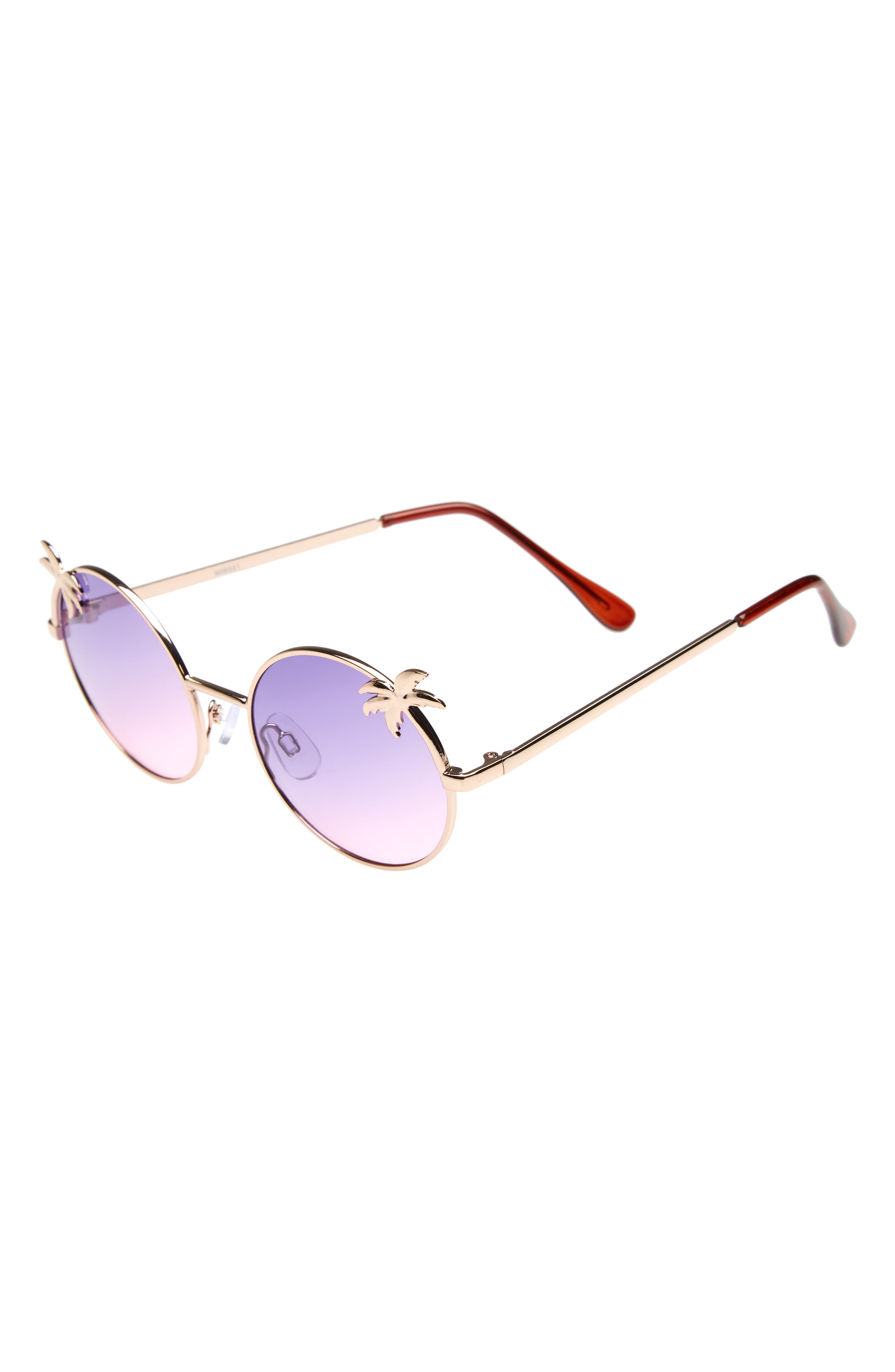 Palm Tree Sunglasses,                             Main thumbnail 1, color,                             Purple