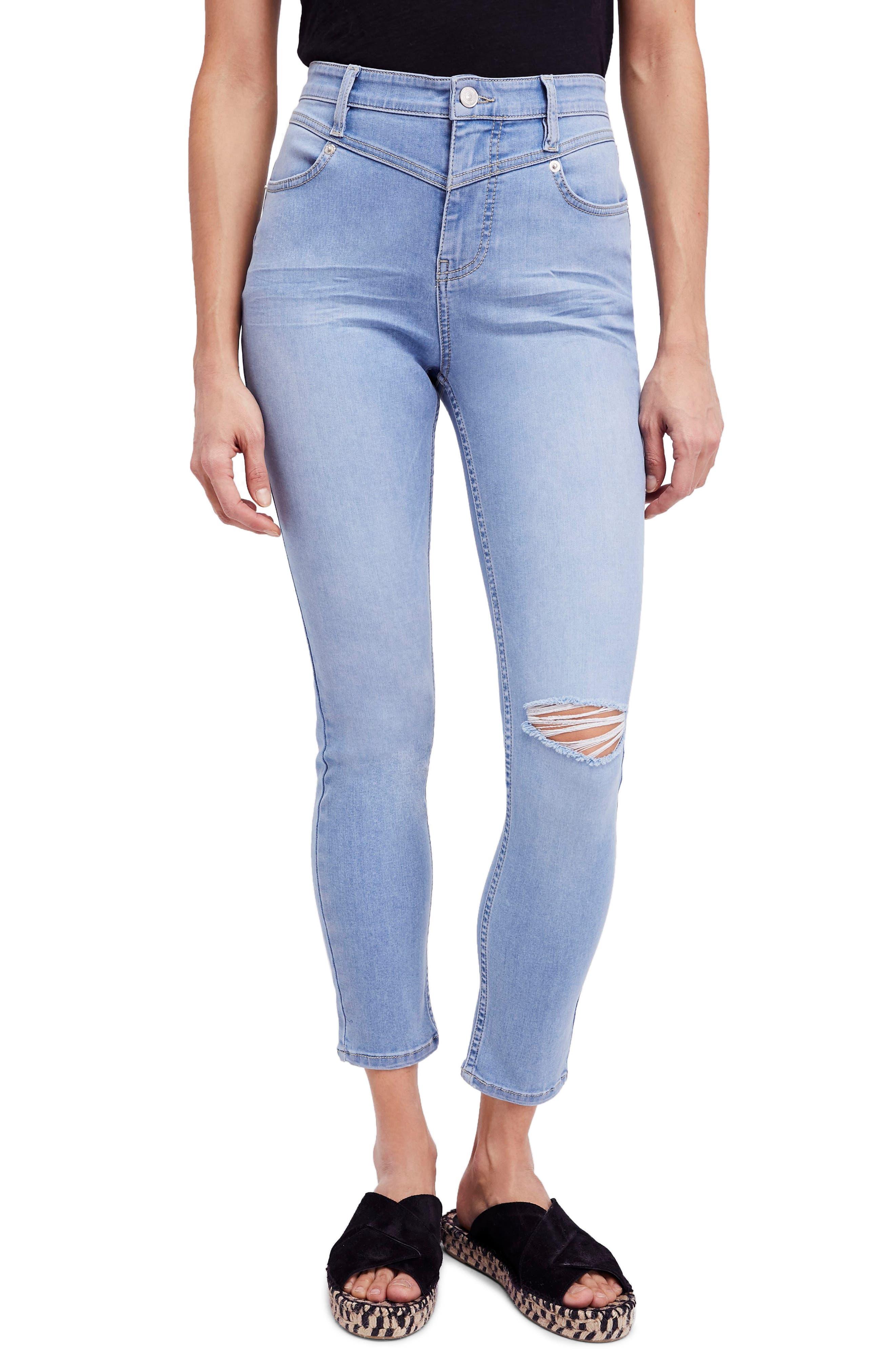 Mara Skinny Jeans,                             Main thumbnail 1, color,                             Blue