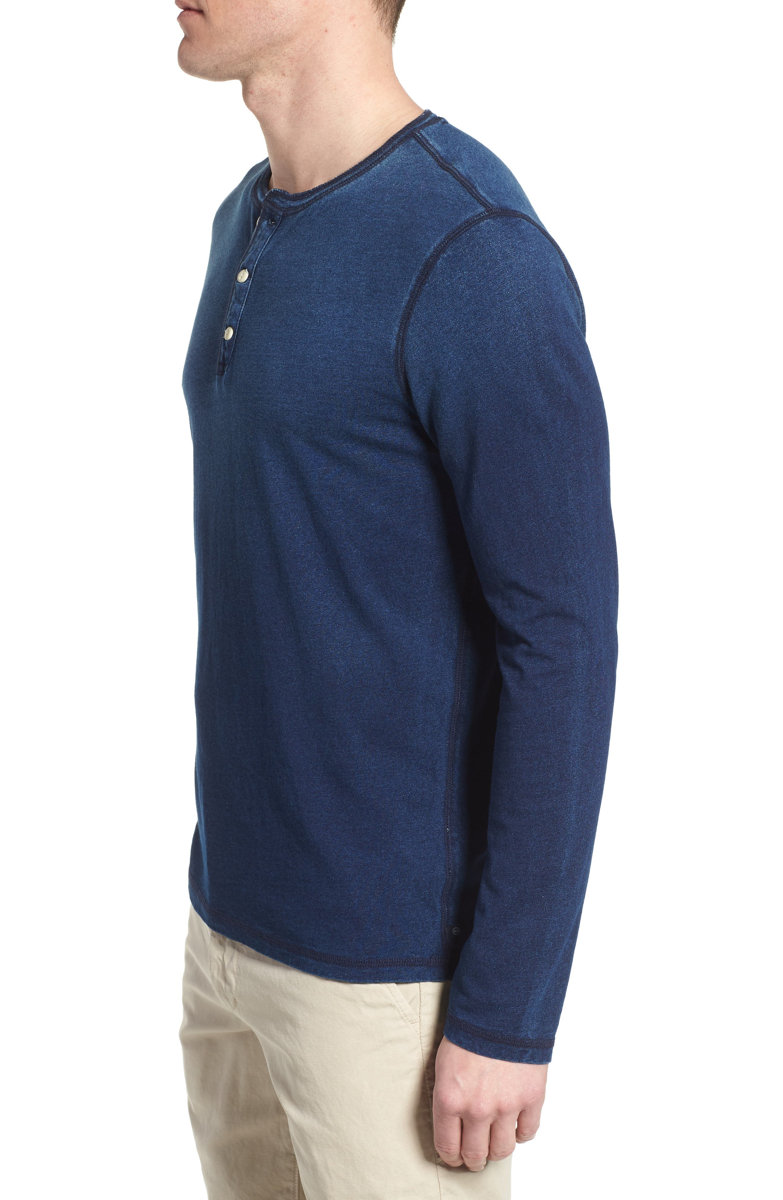 Alternate Image 3  - AG Clyde Slim Fit Cotton Henley