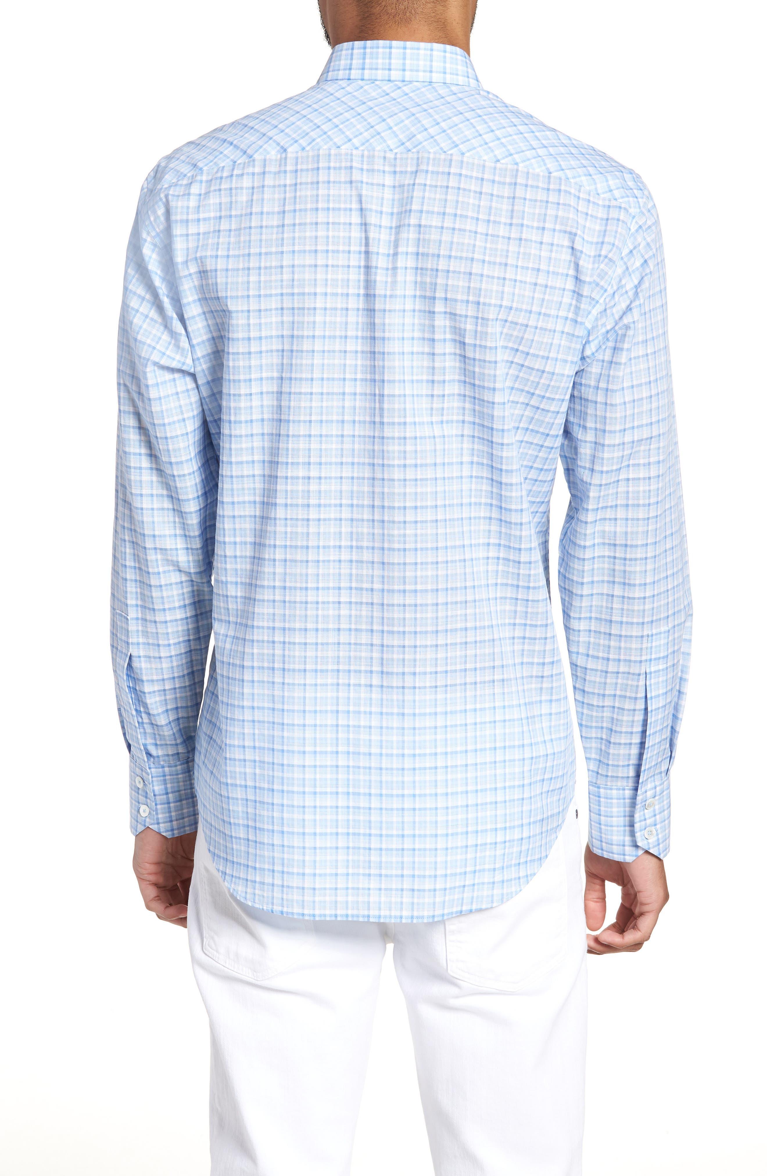 Suresh Regular Fit Sport Shirt,                             Alternate thumbnail 3, color,                             Sky